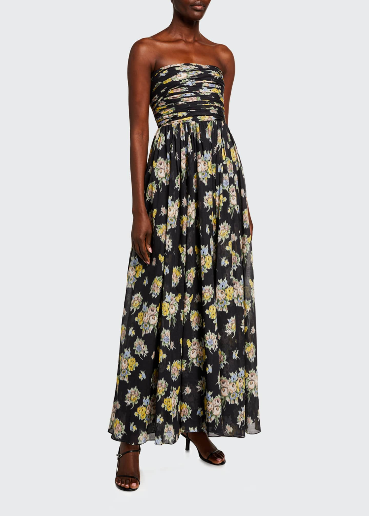 Image 1 of 2: Quintafoglia Strapless Maxi Dress