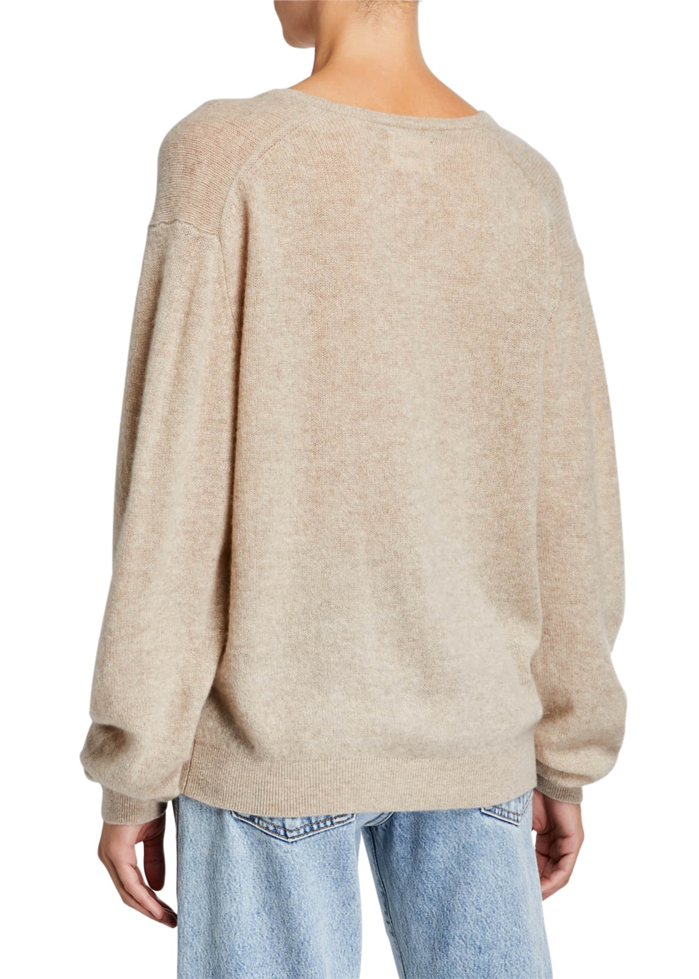 Image 2 of 2: Sam Cashmere V-Neck Sweater