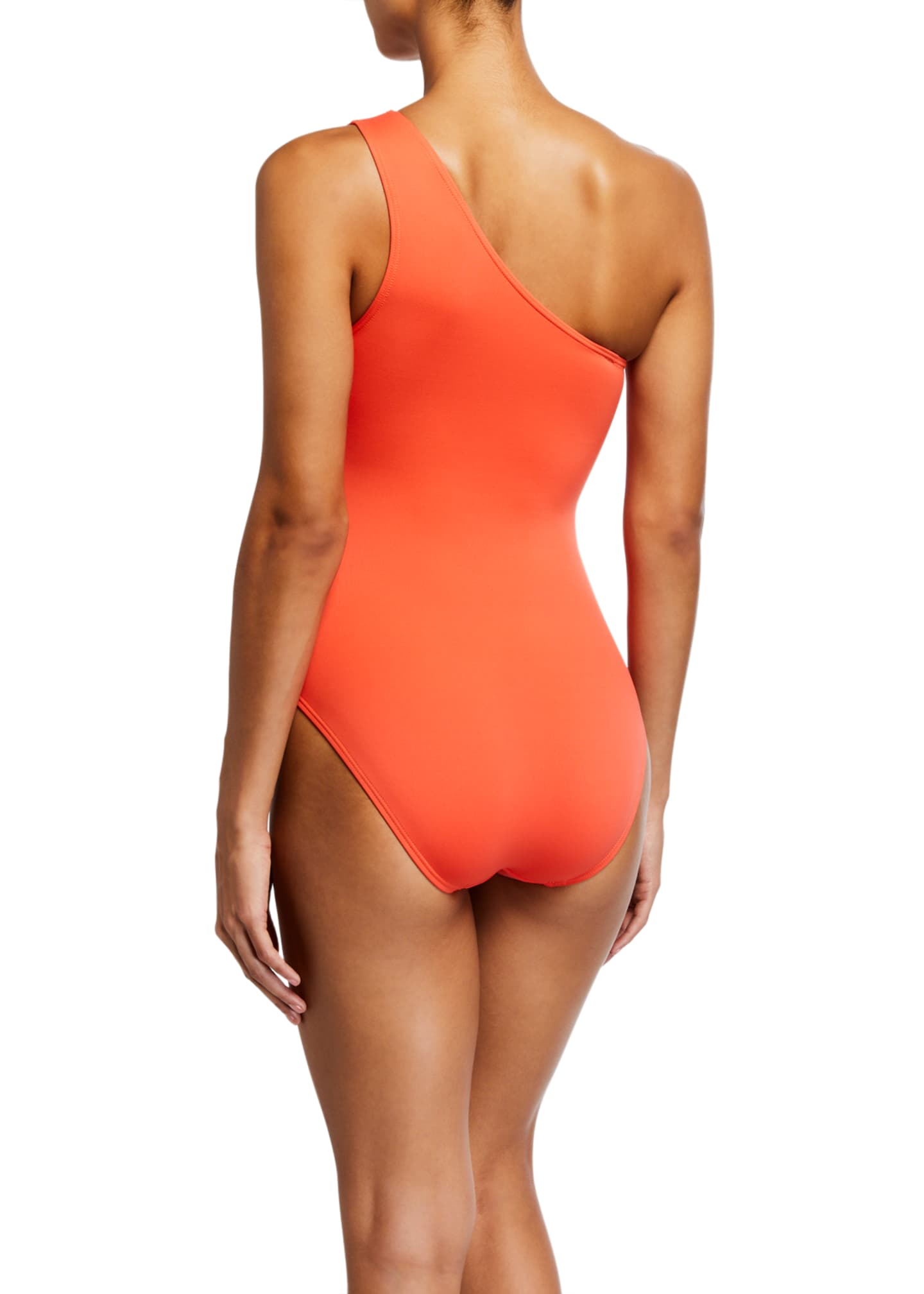 Image 2 of 2: One-Shoulder Paneled Cutout One-Piece Swimsuit