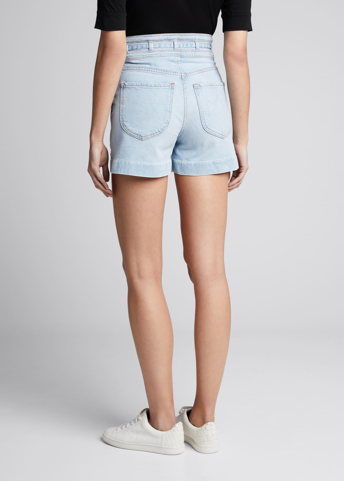 Image 2 of 5: Triple-Waistband Tie Shorts