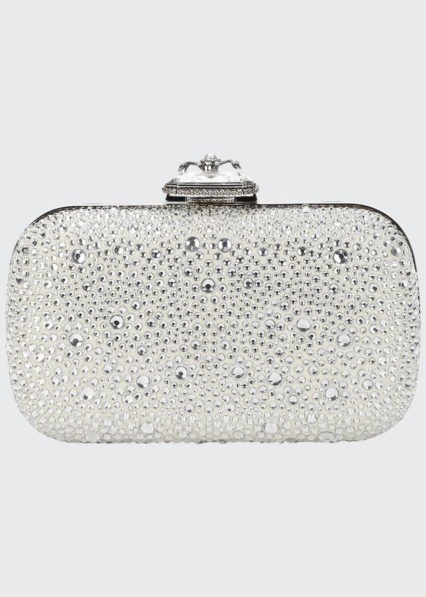 Alexander McQueen Spider Crystal Framed Clutch Bag