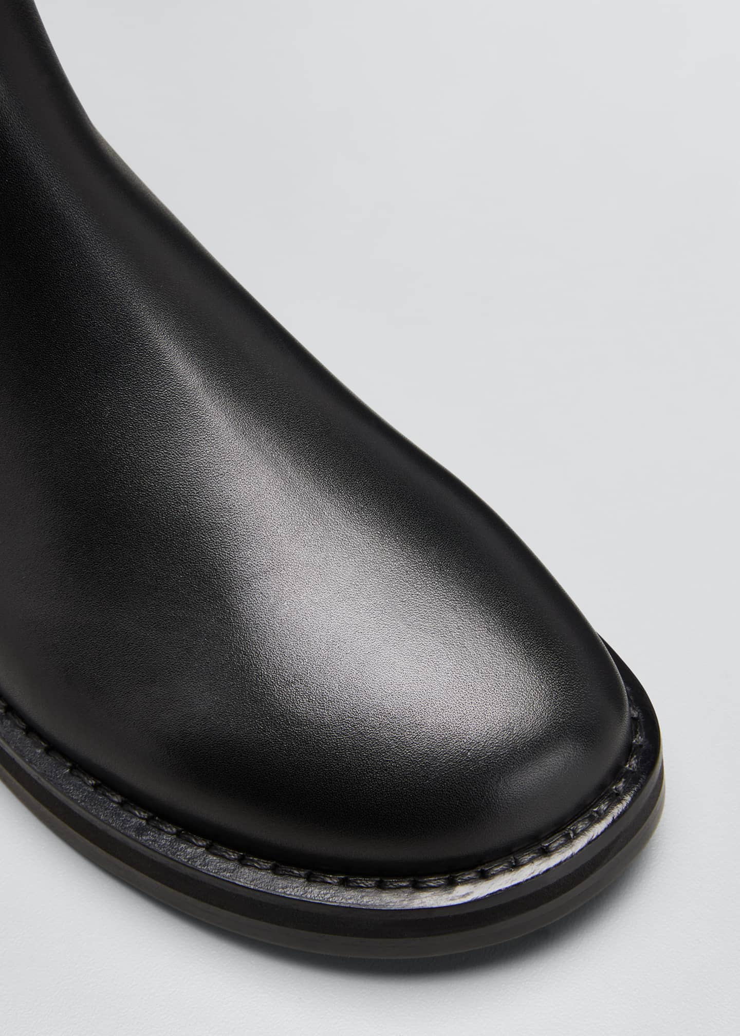 Image 5 of 5: Gaia Leather Gored Boots