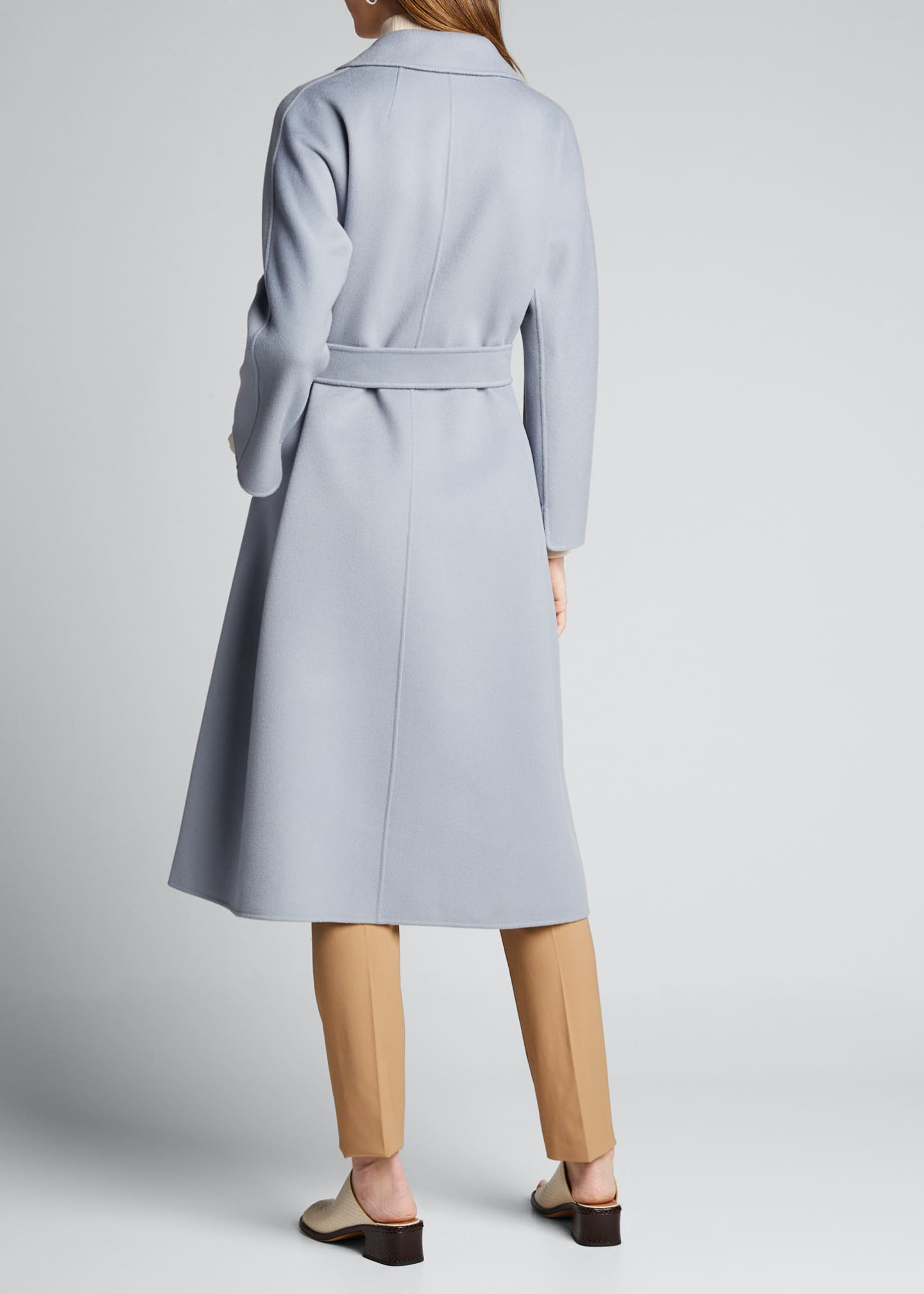 Image 2 of 5: Esturia Self-Tie Virgin Wool Coat