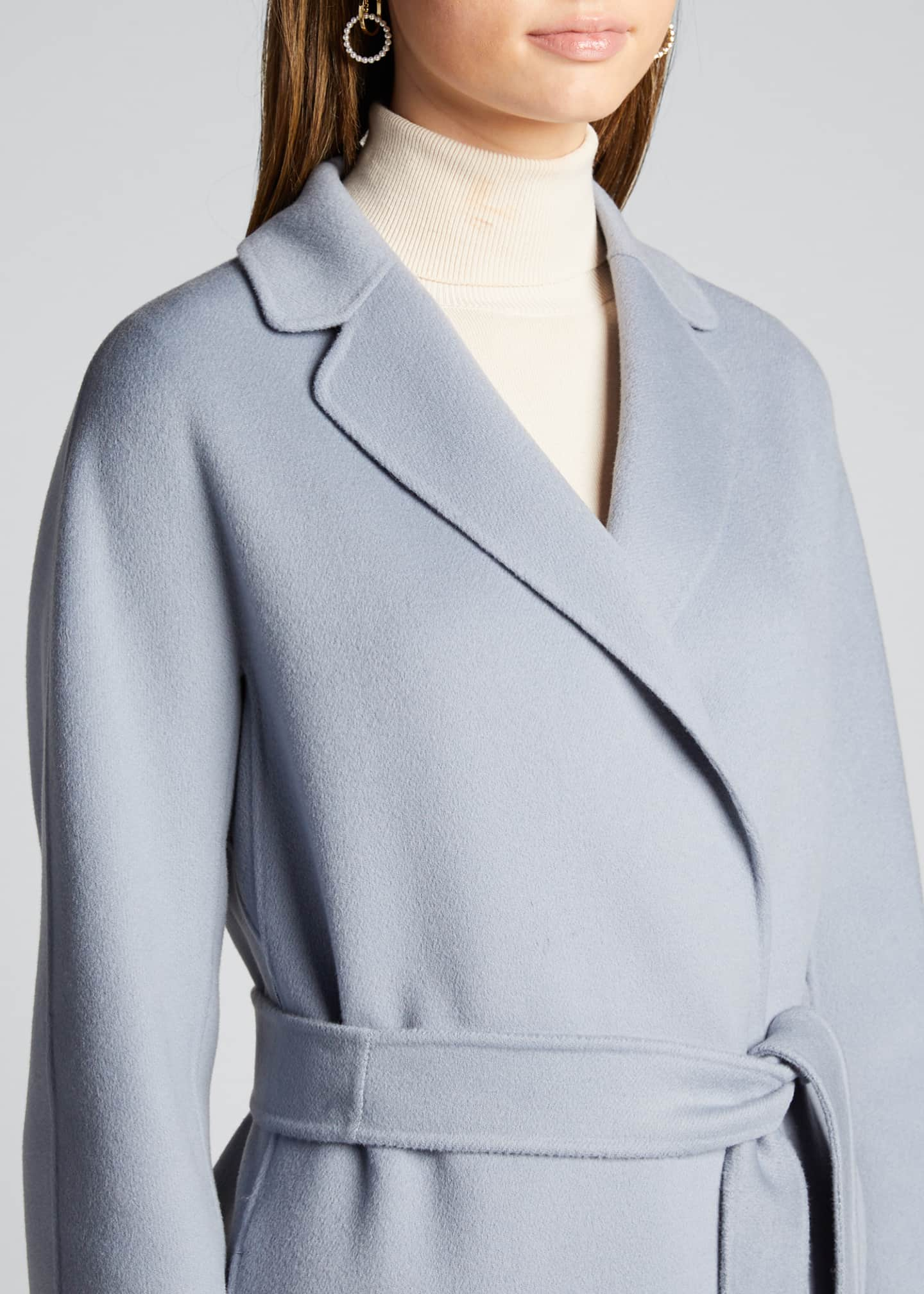 Image 4 of 5: Esturia Self-Tie Virgin Wool Coat