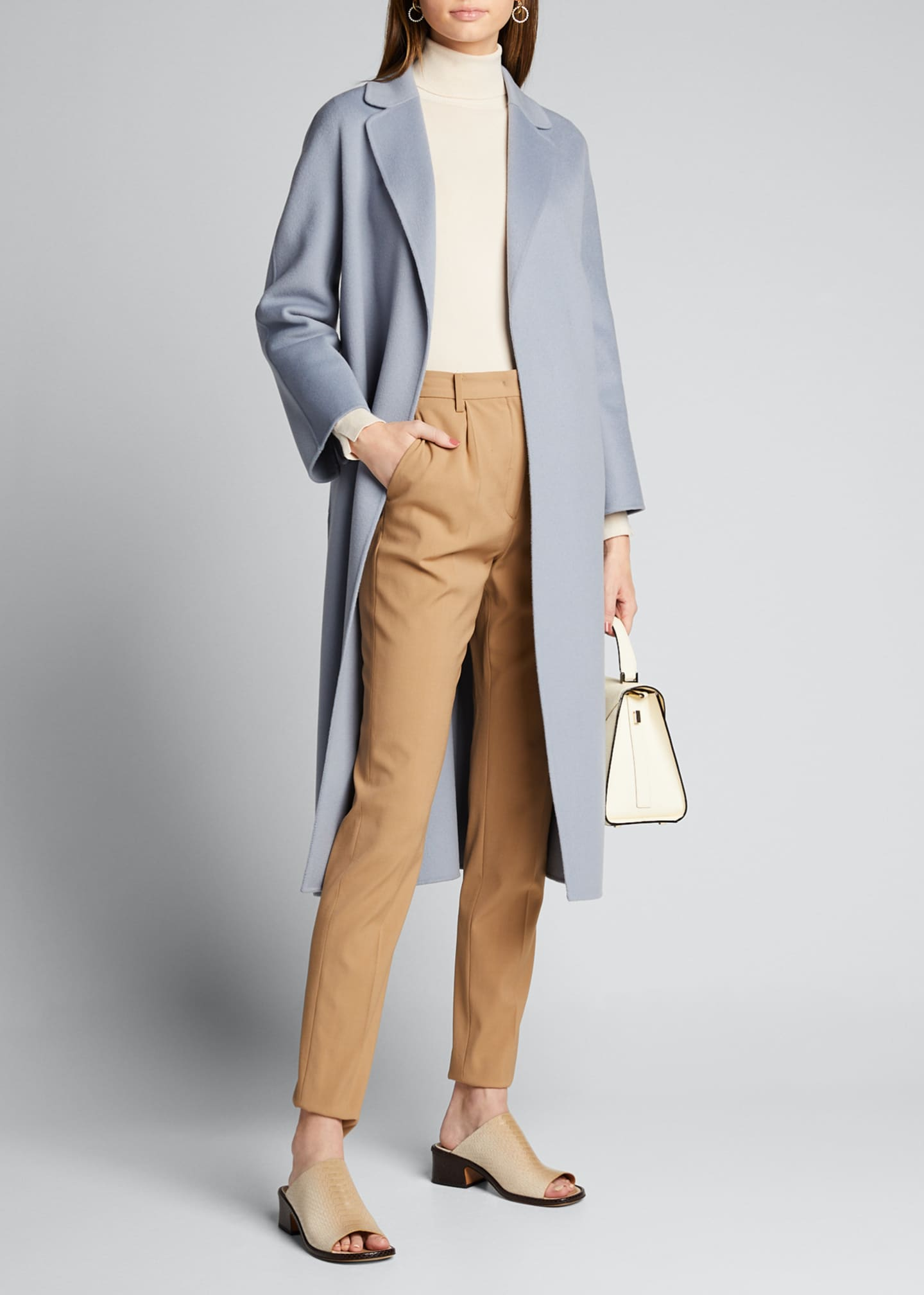 Image 1 of 5: Esturia Self-Tie Virgin Wool Coat