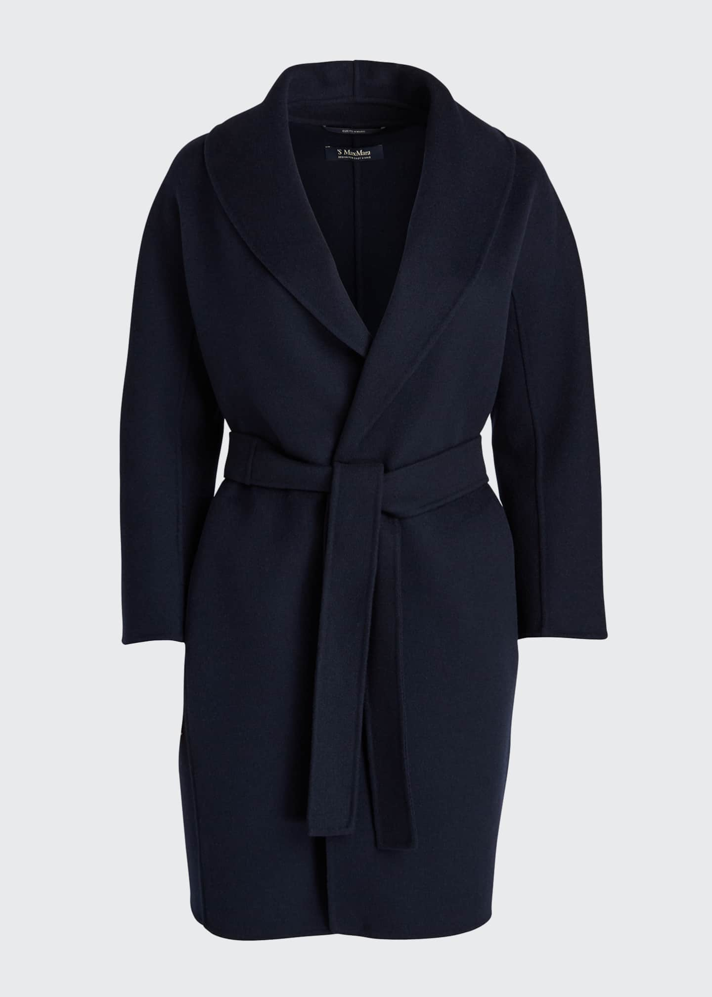 Image 5 of 5: Messi Virgin Wool Wrap Coat