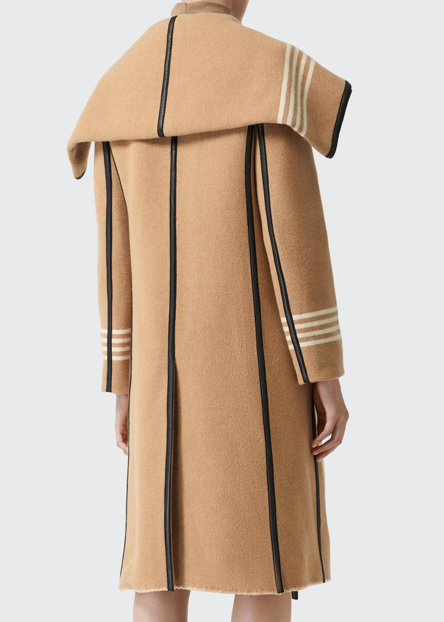 Image 2 of 4: Carthew Cashmere Stripe Jacquard Cape