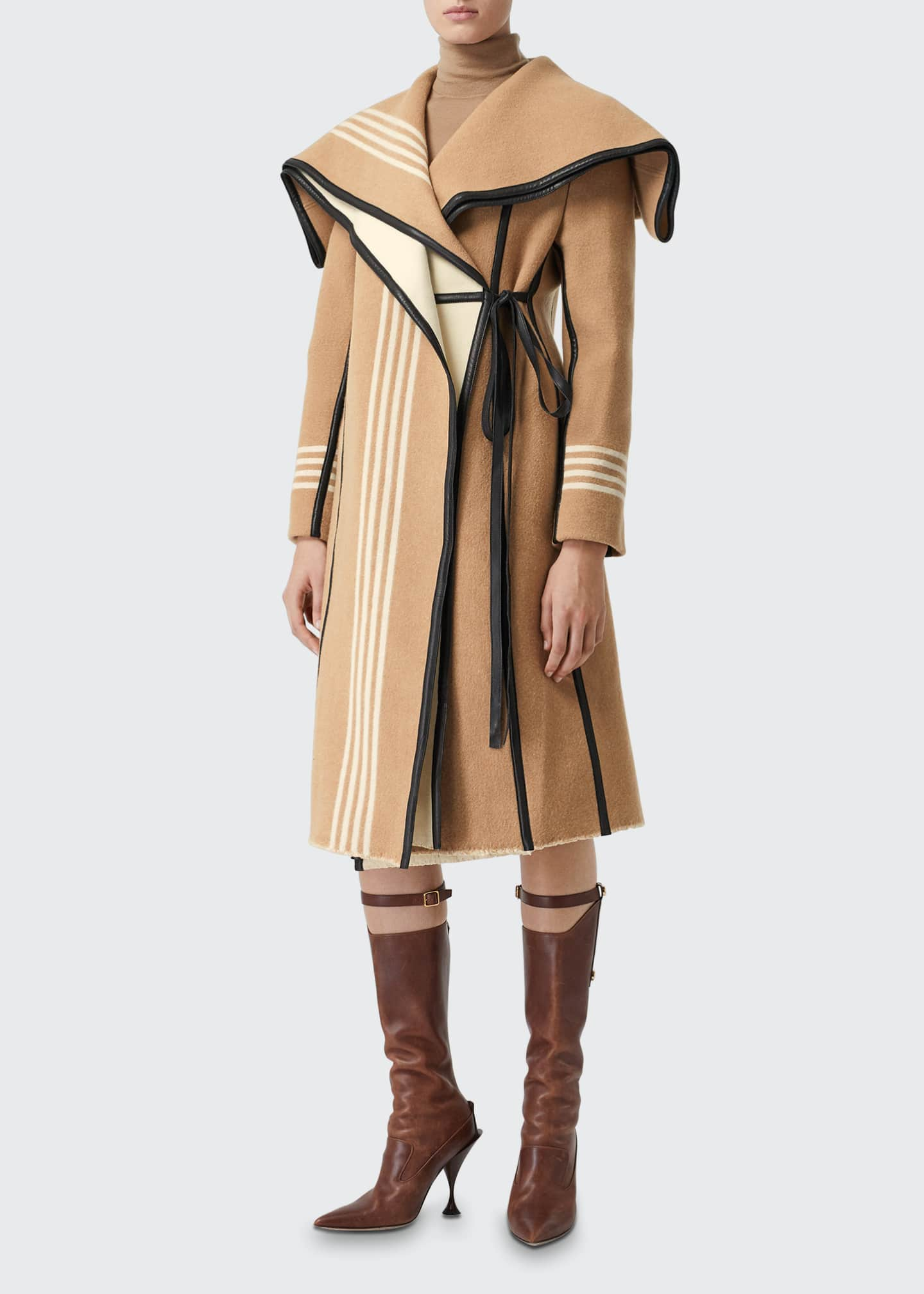 Carthew Cashmere Stripe Jacquard Cape
