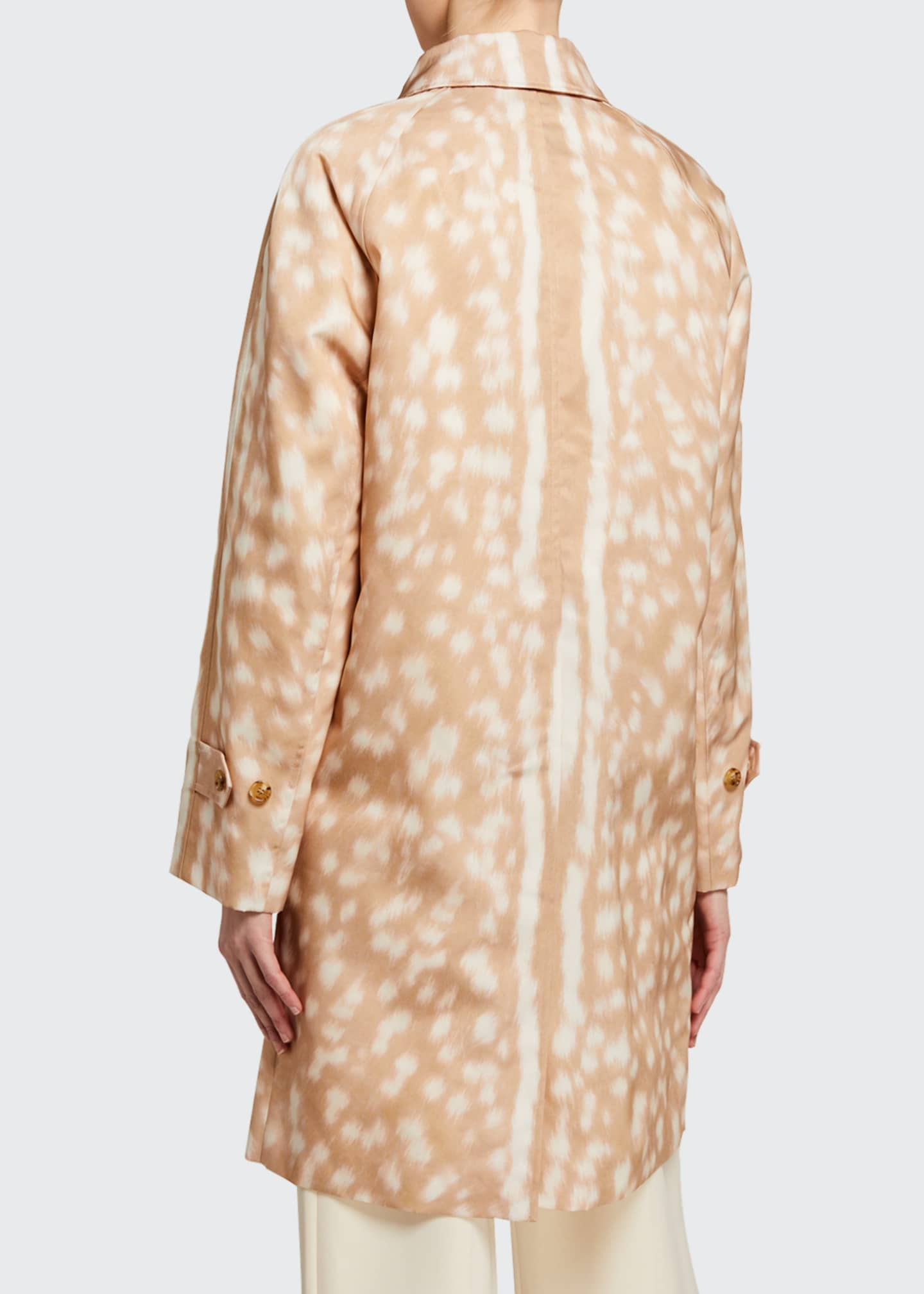 Image 2 of 3: Brunstane Fawn Print Trench Coat