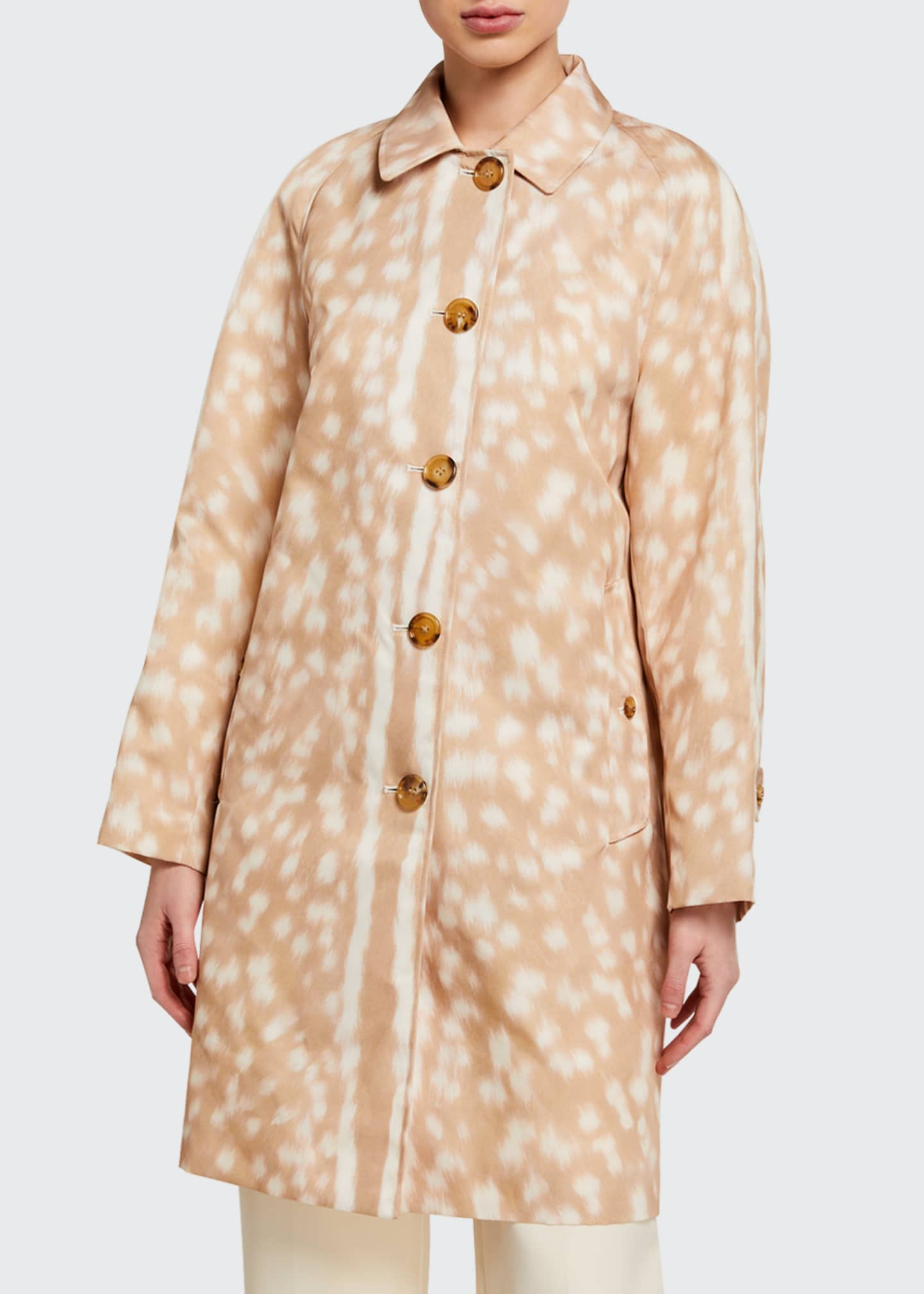 Image 3 of 3: Brunstane Fawn Print Trench Coat