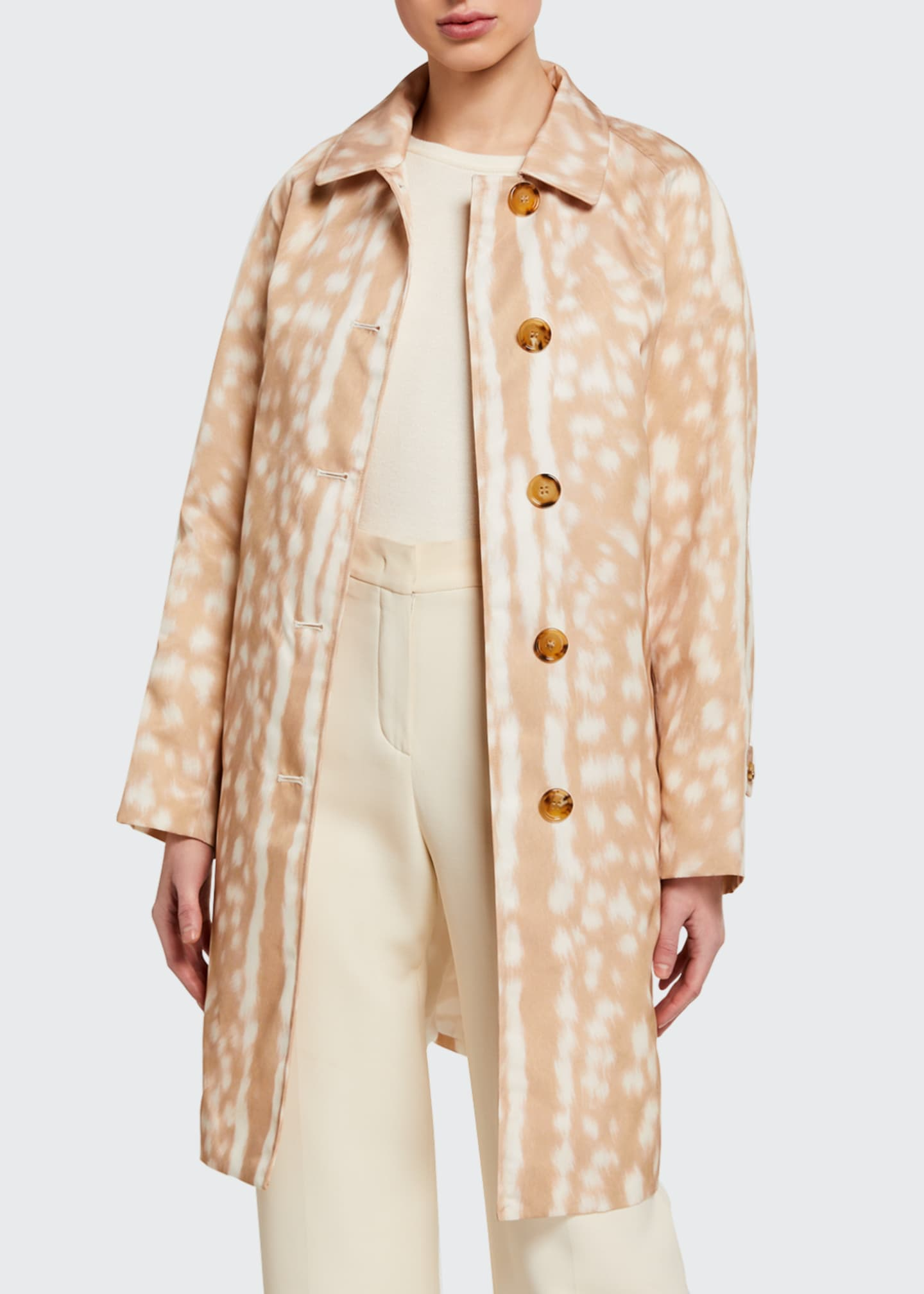 Image 1 of 3: Brunstane Fawn Print Trench Coat