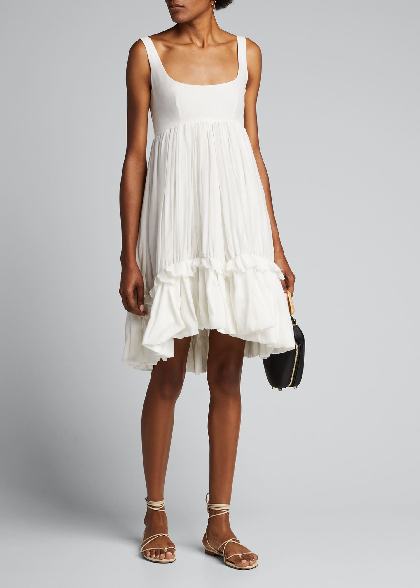 Brock Collection Ruffled Cotton-Silk Scoop-Neck Dress