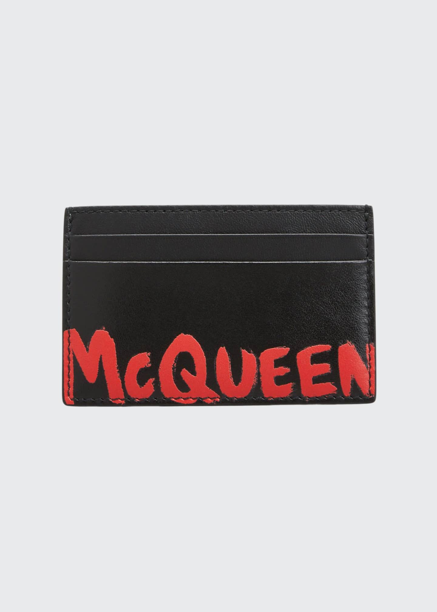 Alexander McQueen Men's Graffiti Logo Card Case