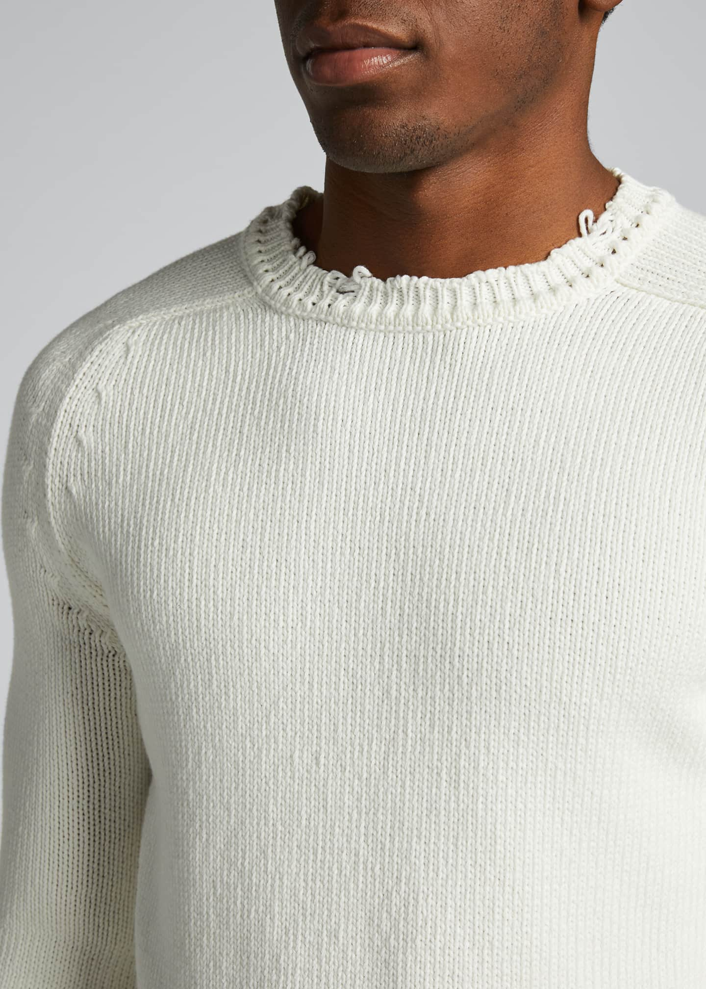 Image 4 of 5: Men's Destroyed Cotton Sweater