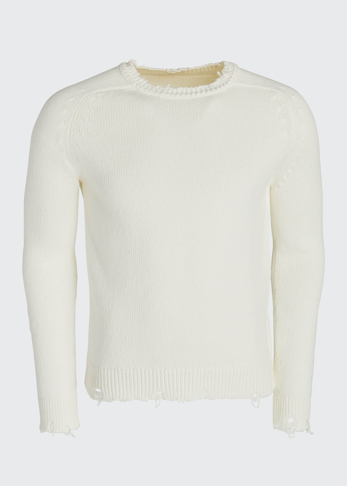 Image 5 of 5: Men's Destroyed Cotton Sweater
