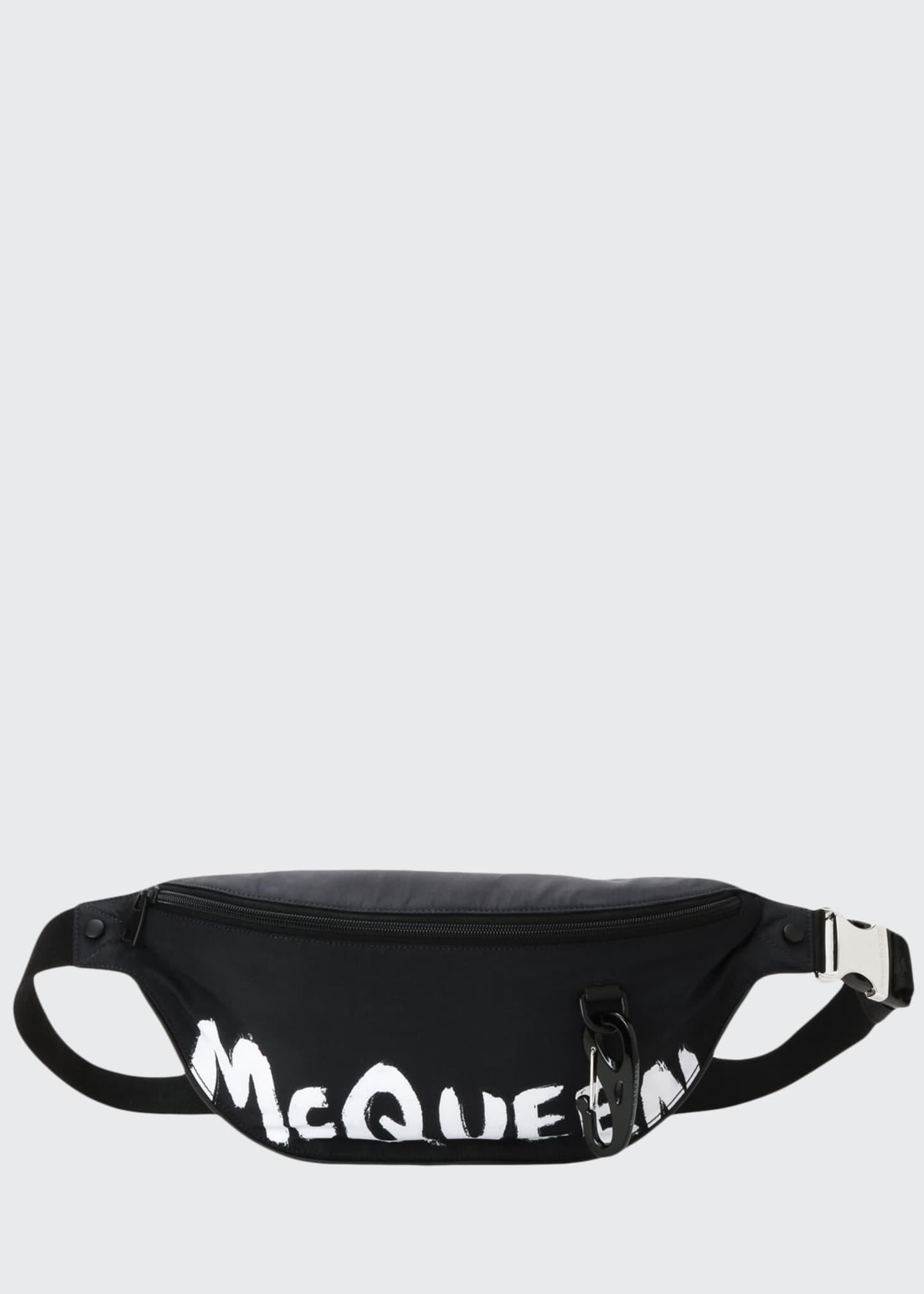 Alexander McQueen Men's Graffiti Logo Leather Belt Bag