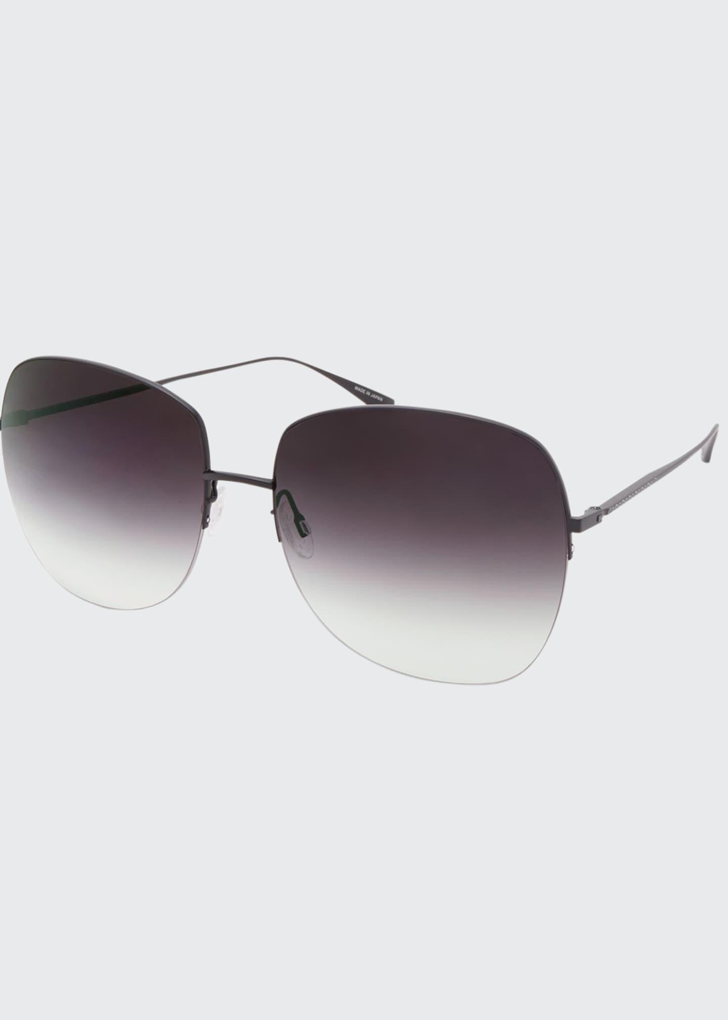 Barton Perreira Harmonia Round Rimless Titanium Sunglasses