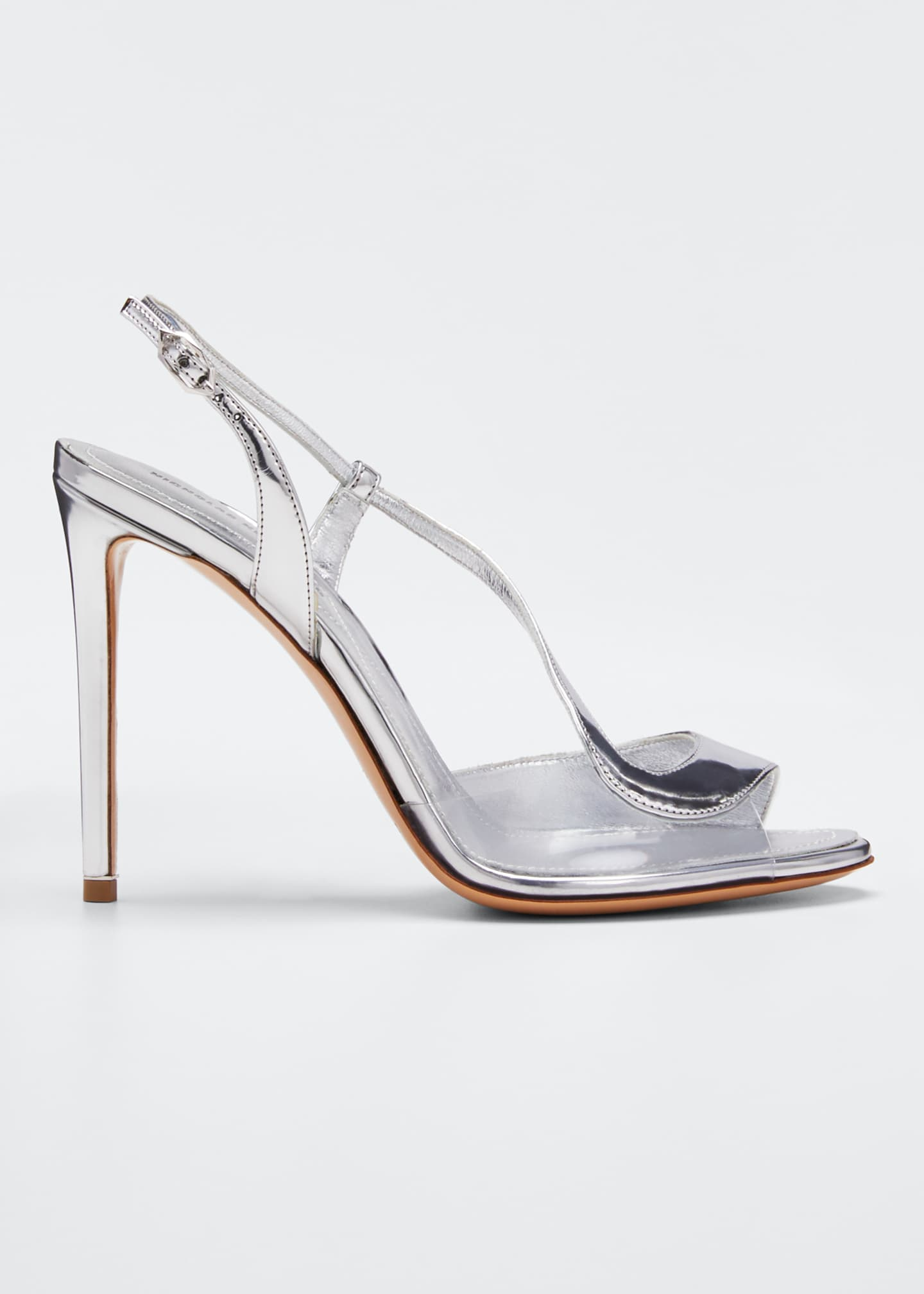 Image 1 of 3: Metallic Strappy High Sandals