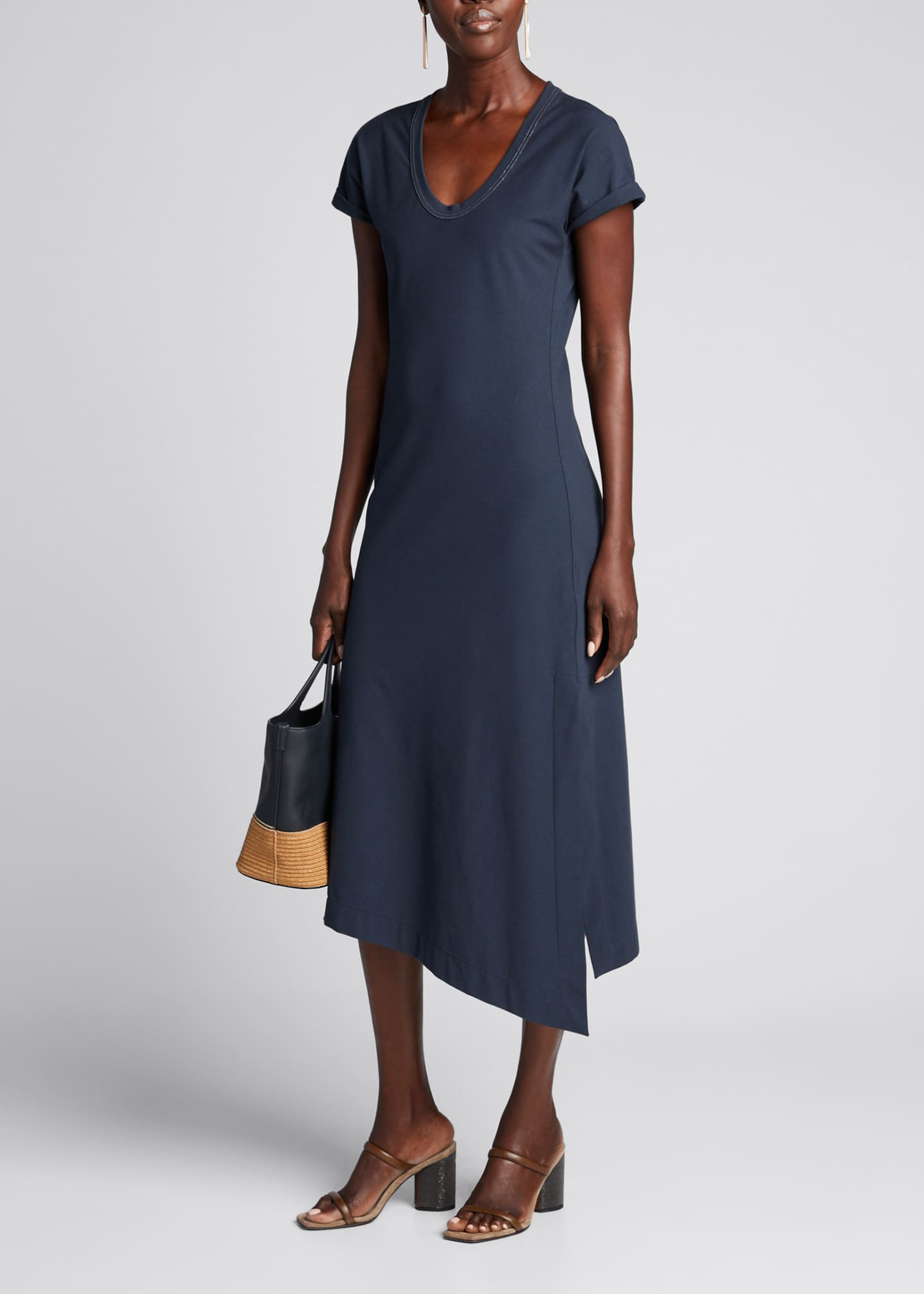 Image 1 of 5: Couture Jersey Scoop-Neck Dress