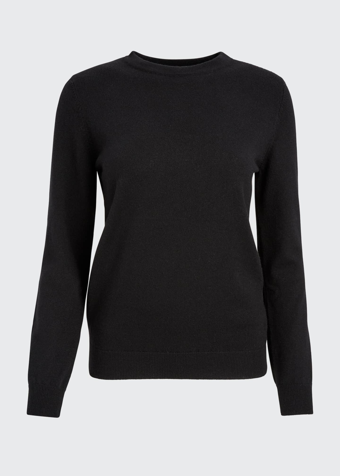 Image 5 of 5: Cashmere Basic Crewneck Sweater