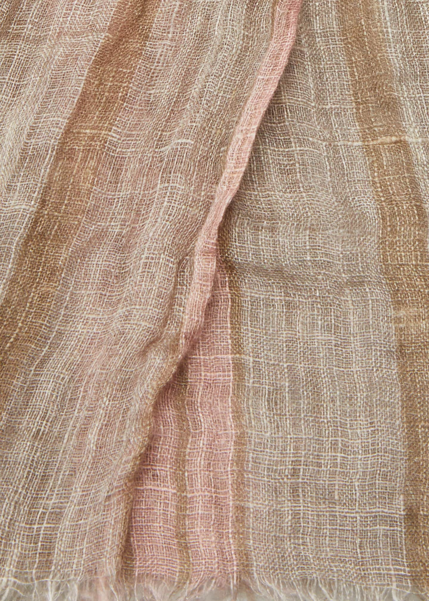 Image 4 of 4: Striped Lurex Linen Scarf