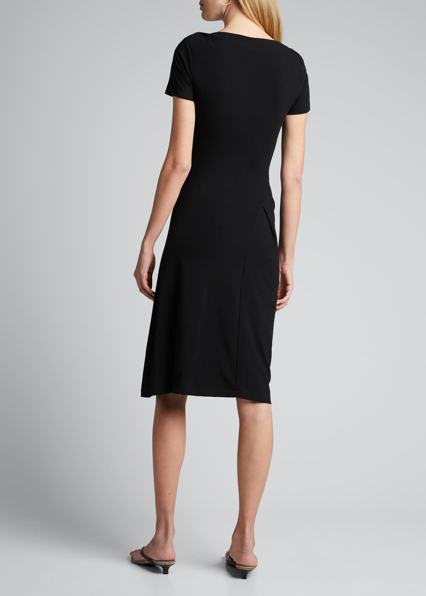 Image 2 of 5: Short-Sleeve Jersey Couture Side Ruched Dress