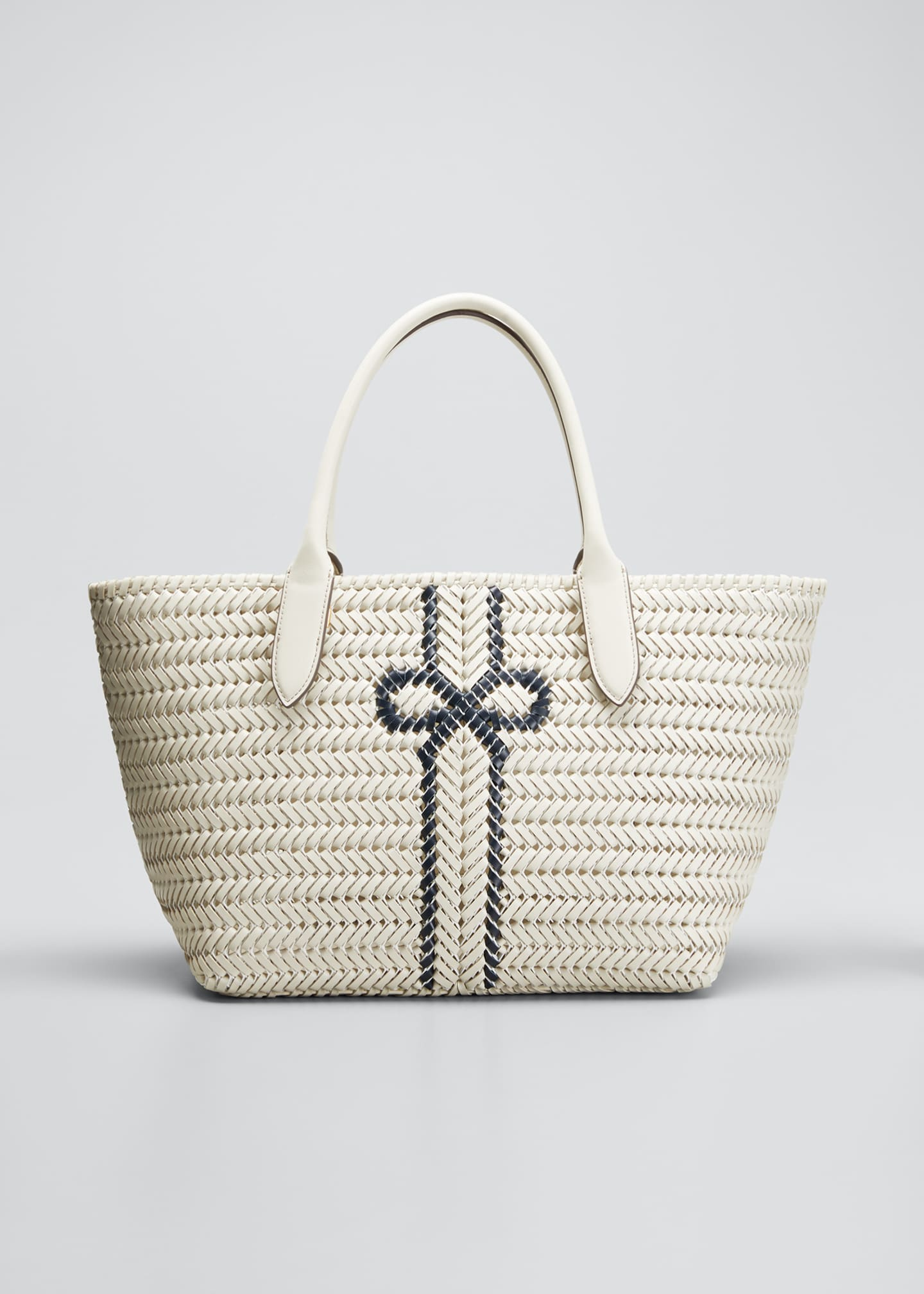 Image 1 of 5: The Neeson Stripe Leather Tote Bag