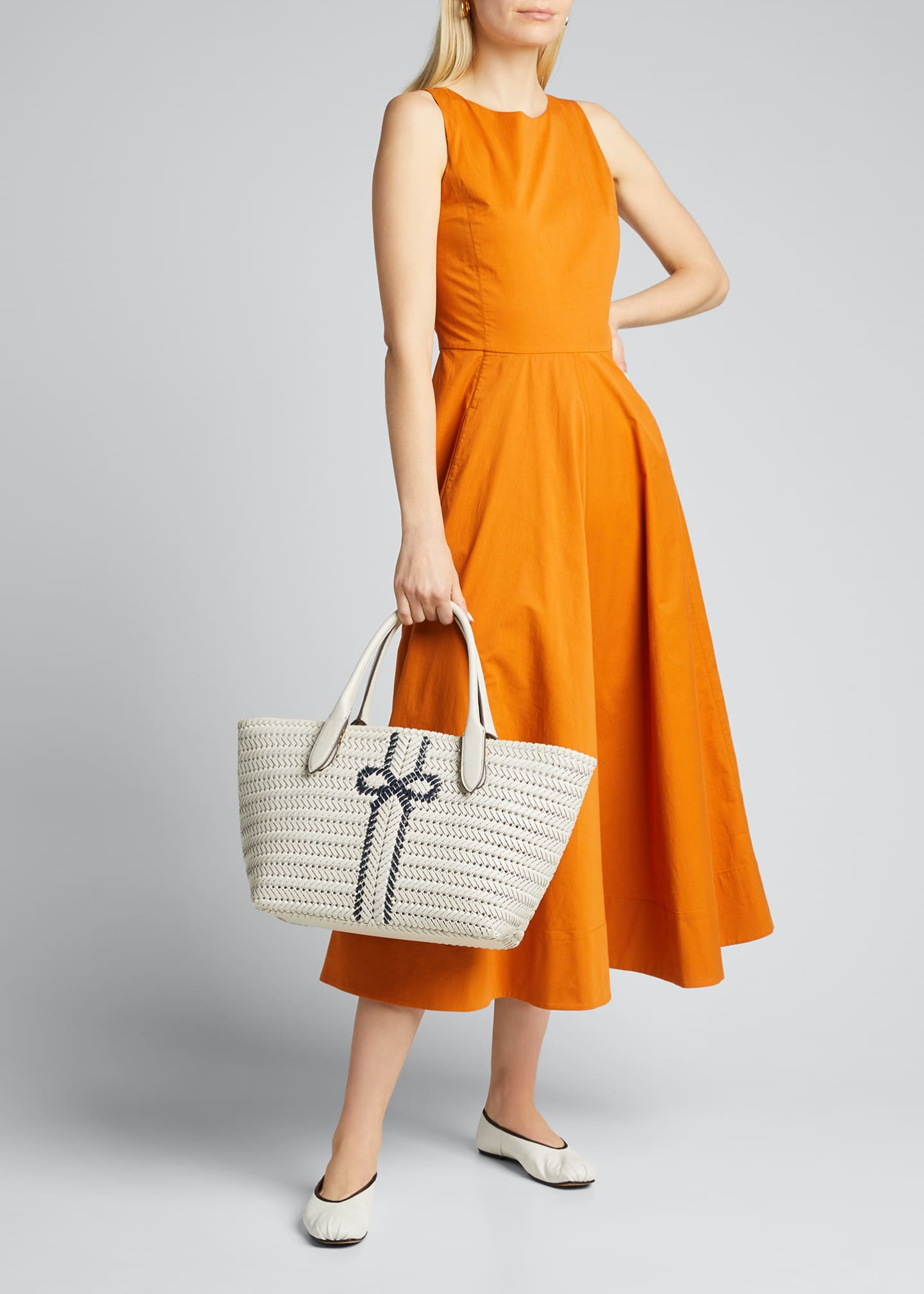 Image 5 of 5: The Neeson Stripe Leather Tote Bag