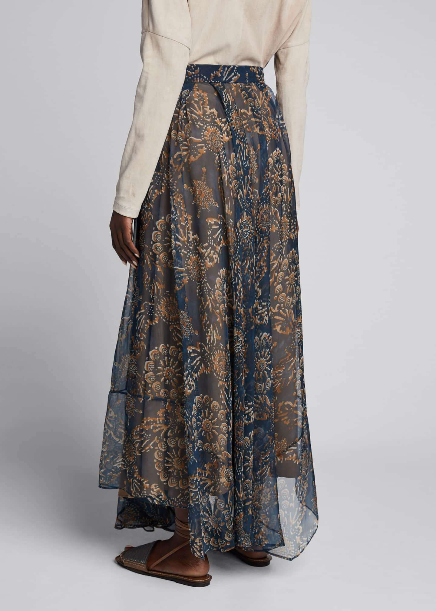 Image 2 of 5: Printed Chiffon Pull-On Maxi Skirt