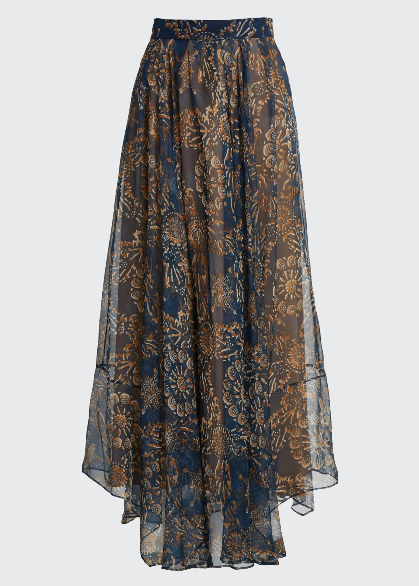 Image 5 of 5: Printed Chiffon Pull-On Maxi Skirt