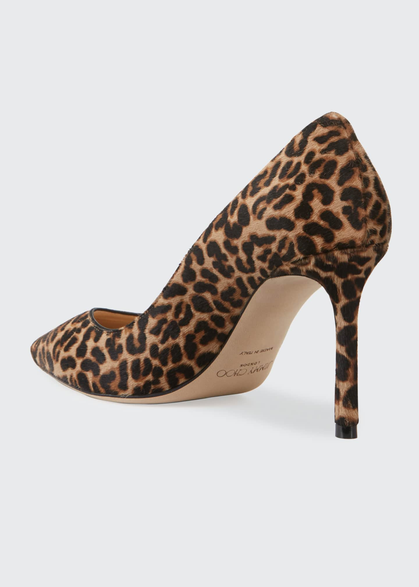 Image 2 of 3: Romy 85mm Leopard Print Pumps