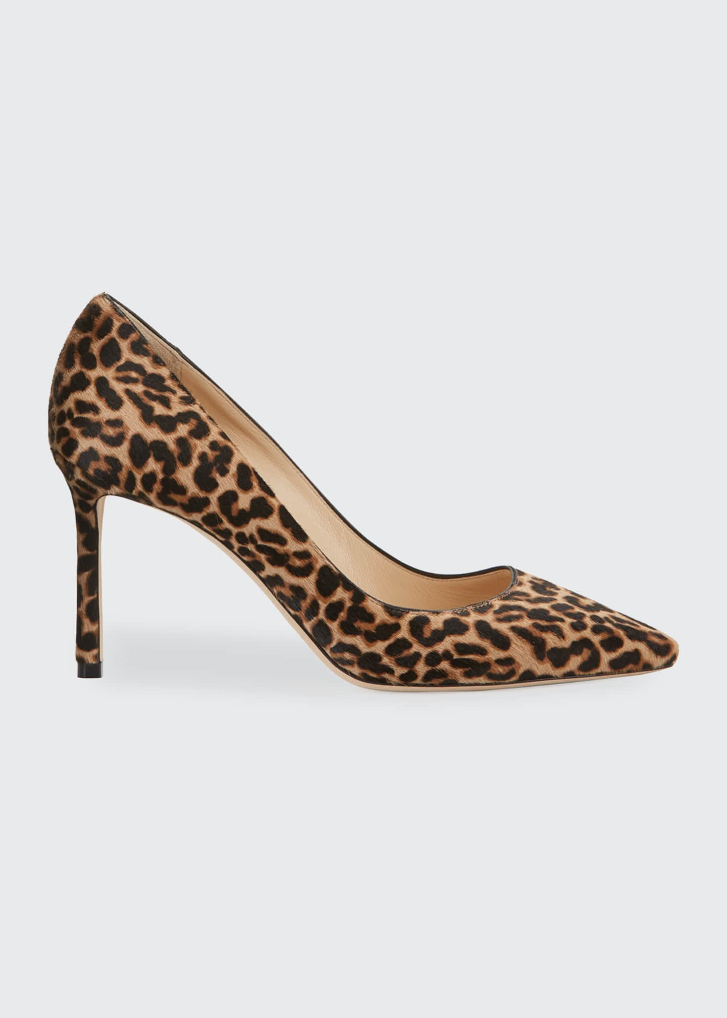 Image 1 of 3: Romy 85mm Leopard Print Pumps