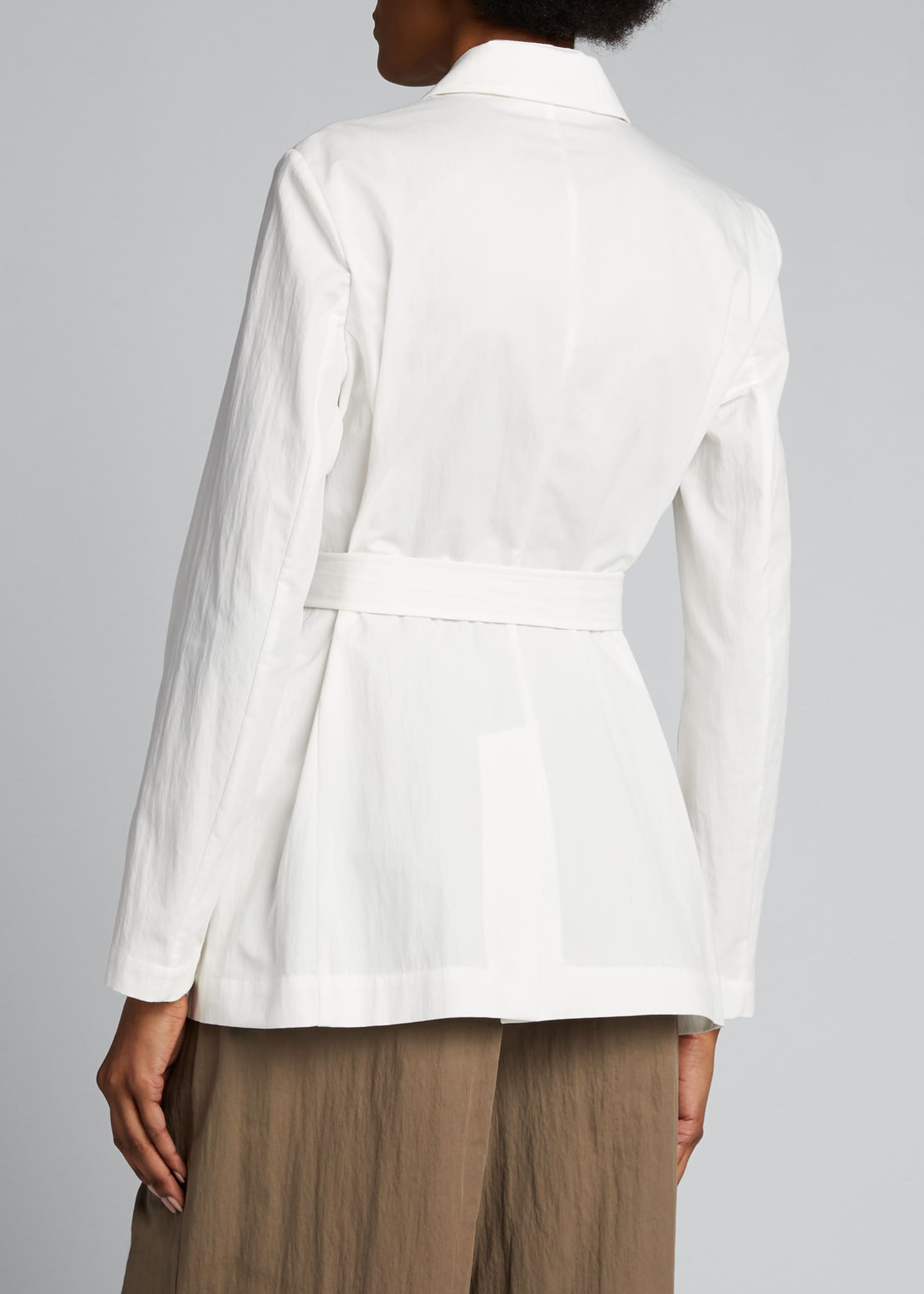 Image 2 of 4: Crispy Cotton Gabardine Belted Jacket