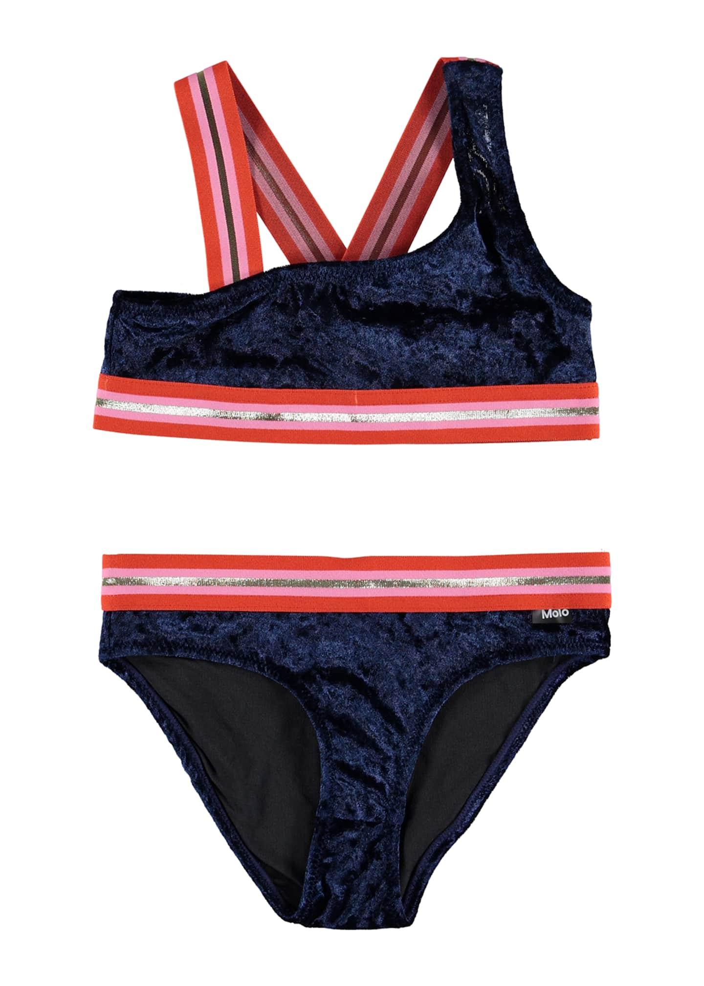Molo Girl's Nicola Velvet Two-Piece Bikini w/ Sports