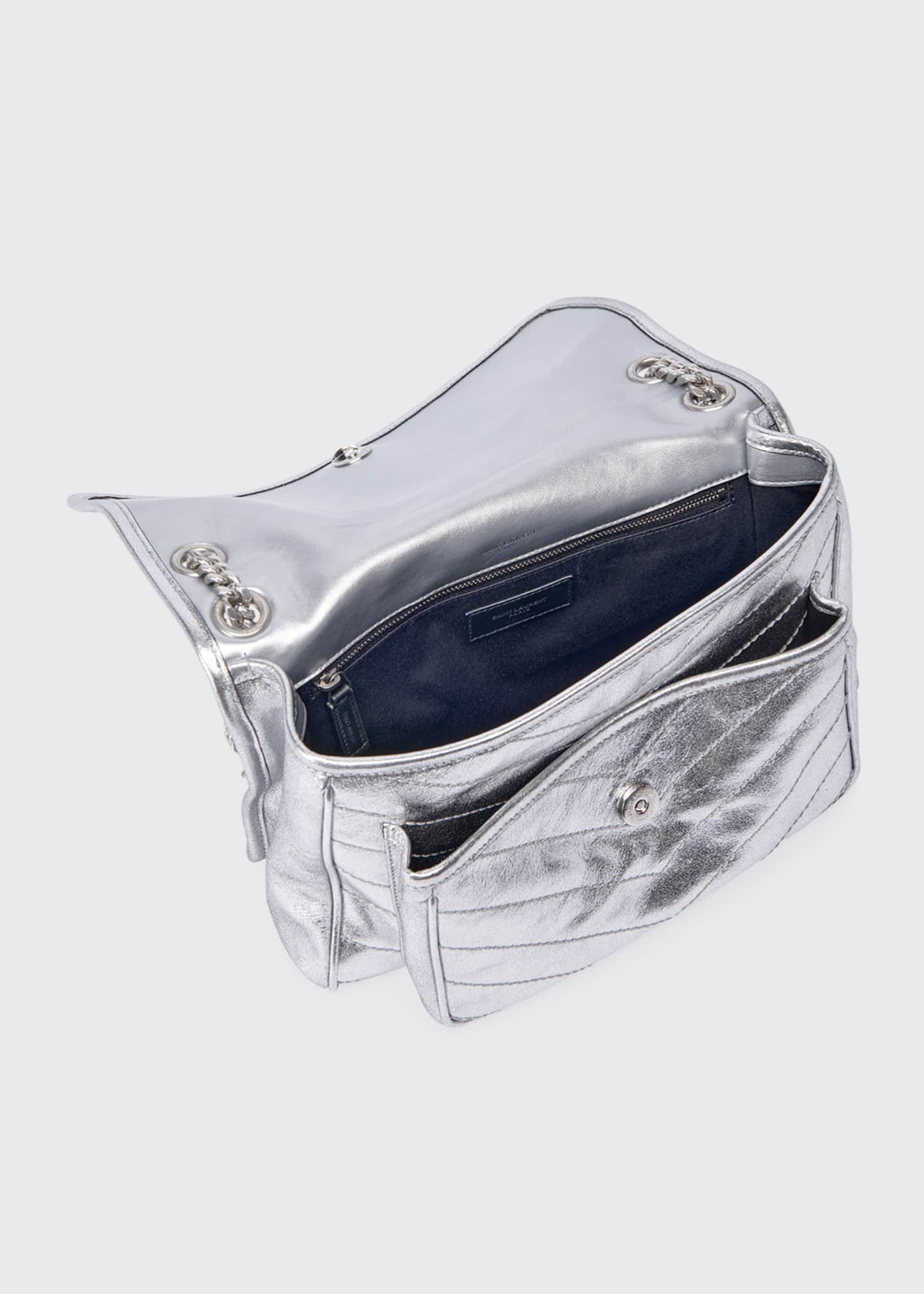 Image 3 of 3: Niki Medium Vintage Calfskin Flap-Top Shoulder Bag