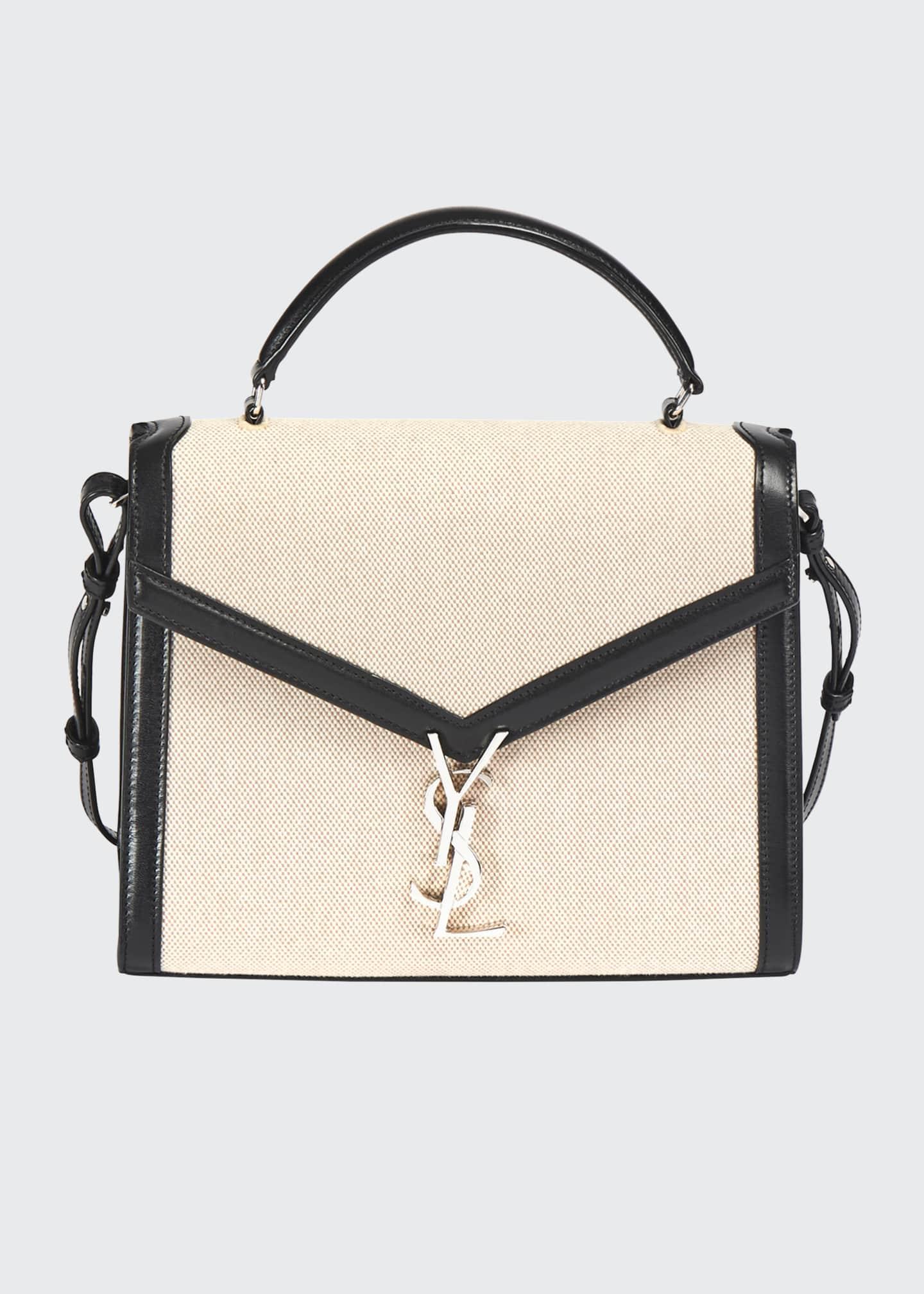 Saint Laurent Cassandre YSL Monogram Canvas Top-Handle Bag