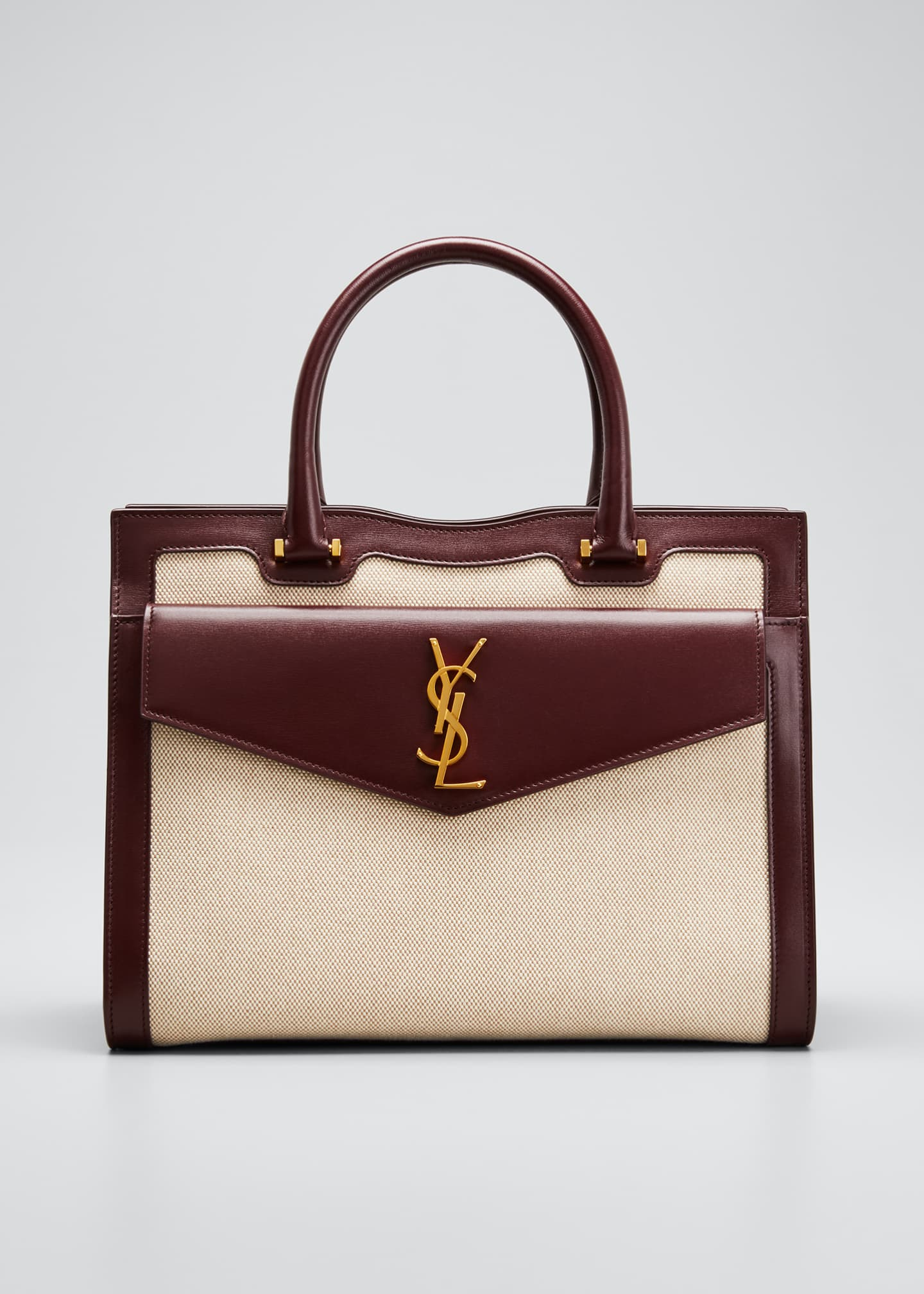 Saint Laurent Uptown Medium YSL Canvas Satchel Bag