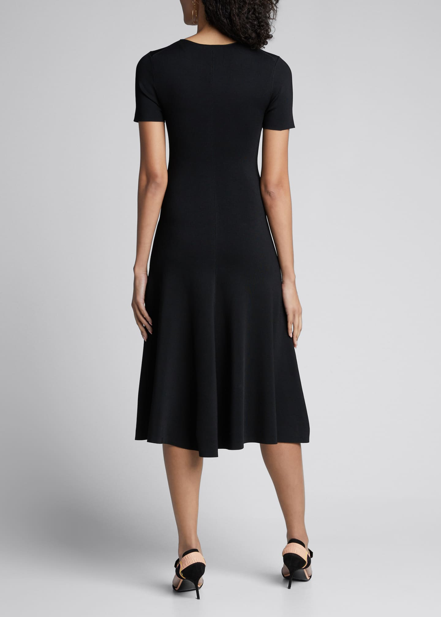 Image 2 of 5: Berry Short-Sleeve A-Line Milano Dress