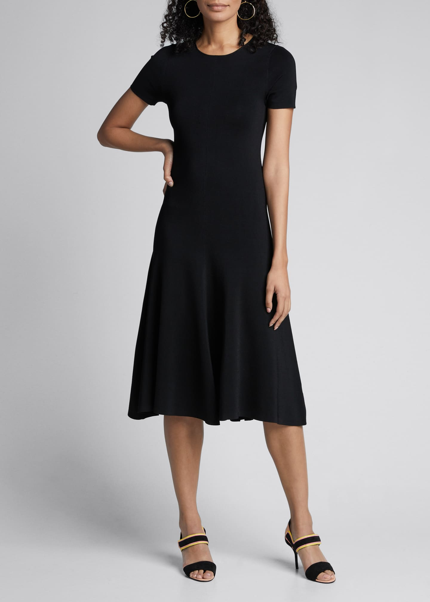 Image 3 of 5: Berry Short-Sleeve A-Line Milano Dress