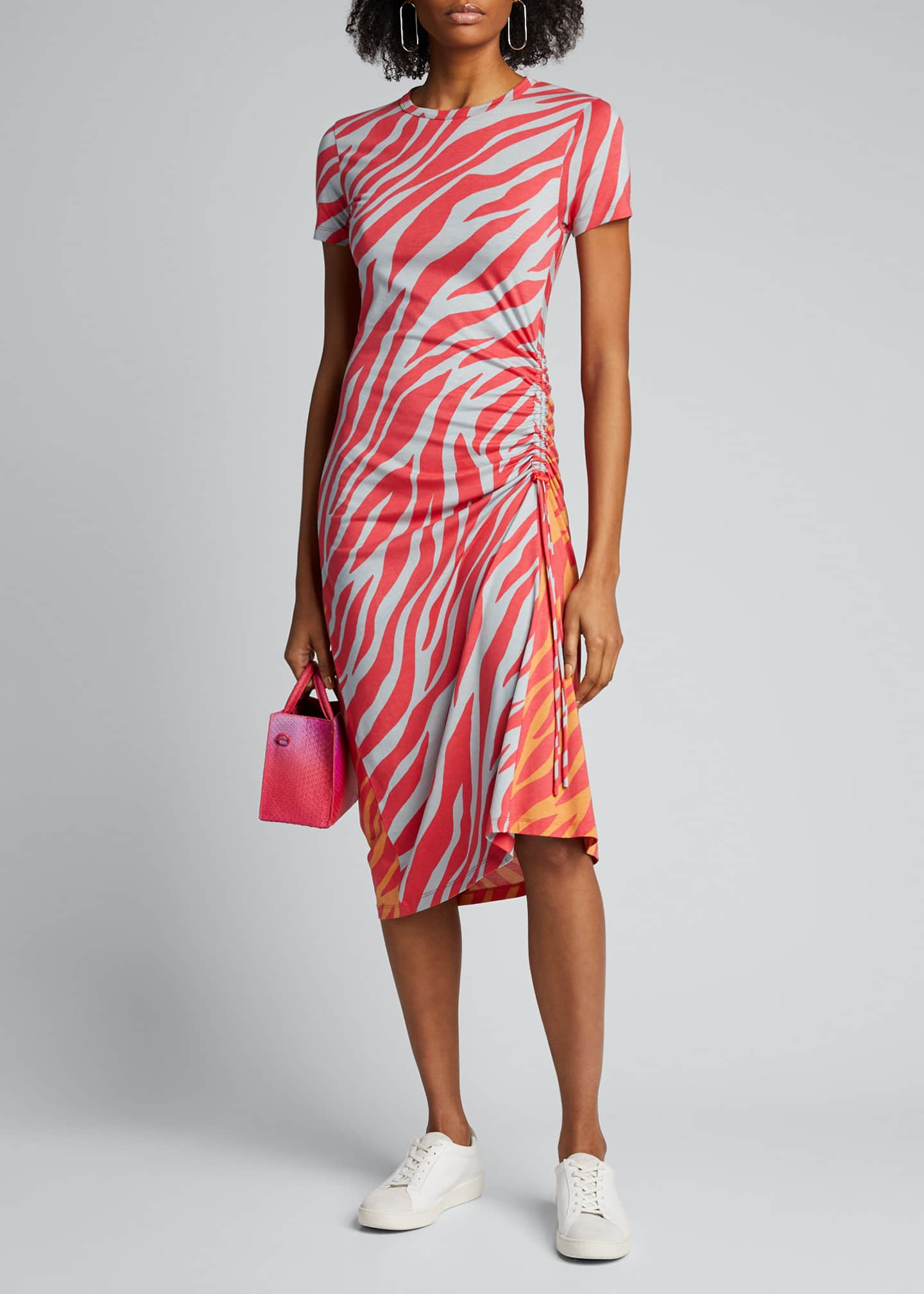 Rag & Bone Ina Tiger-Stripe Midi Dress