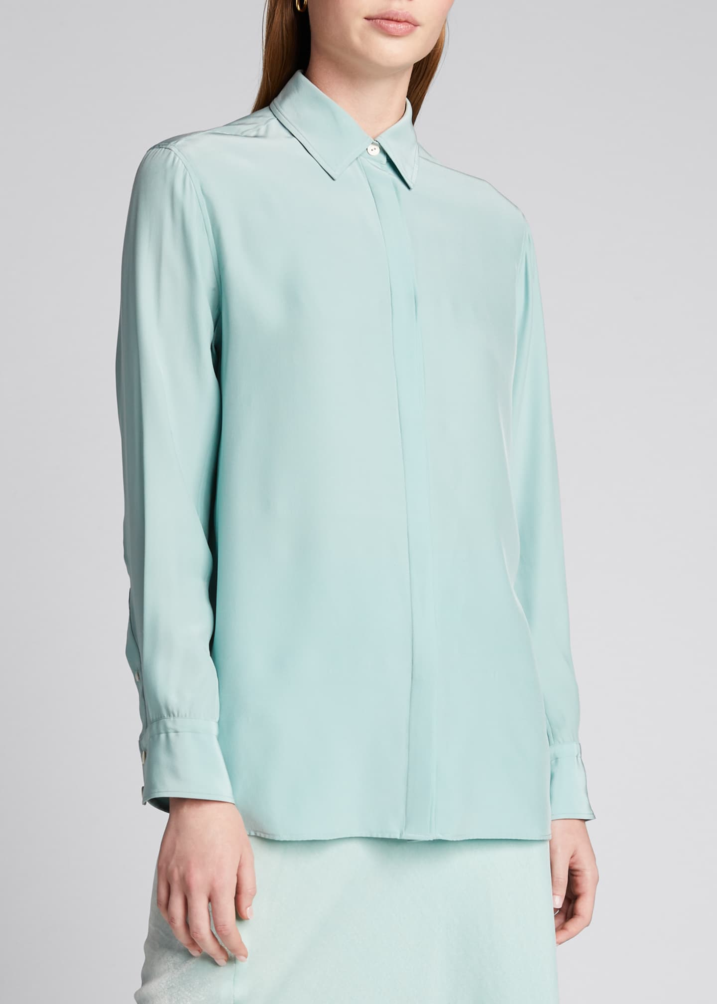Image 3 of 5: Anderson Button-Down Silk Shirt