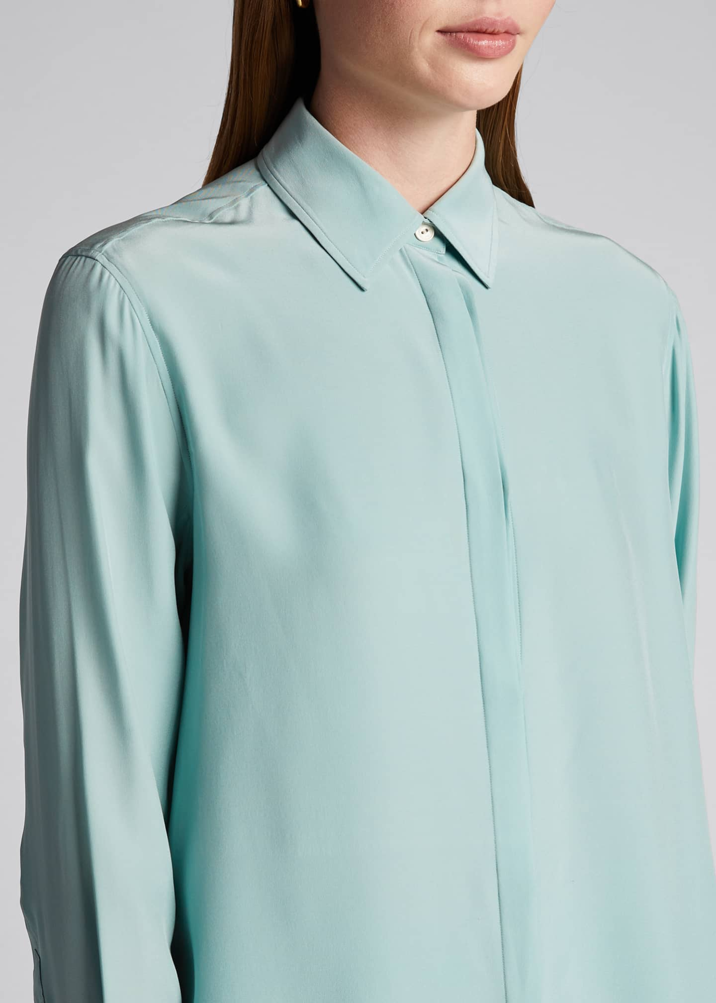 Image 4 of 5: Anderson Button-Down Silk Shirt