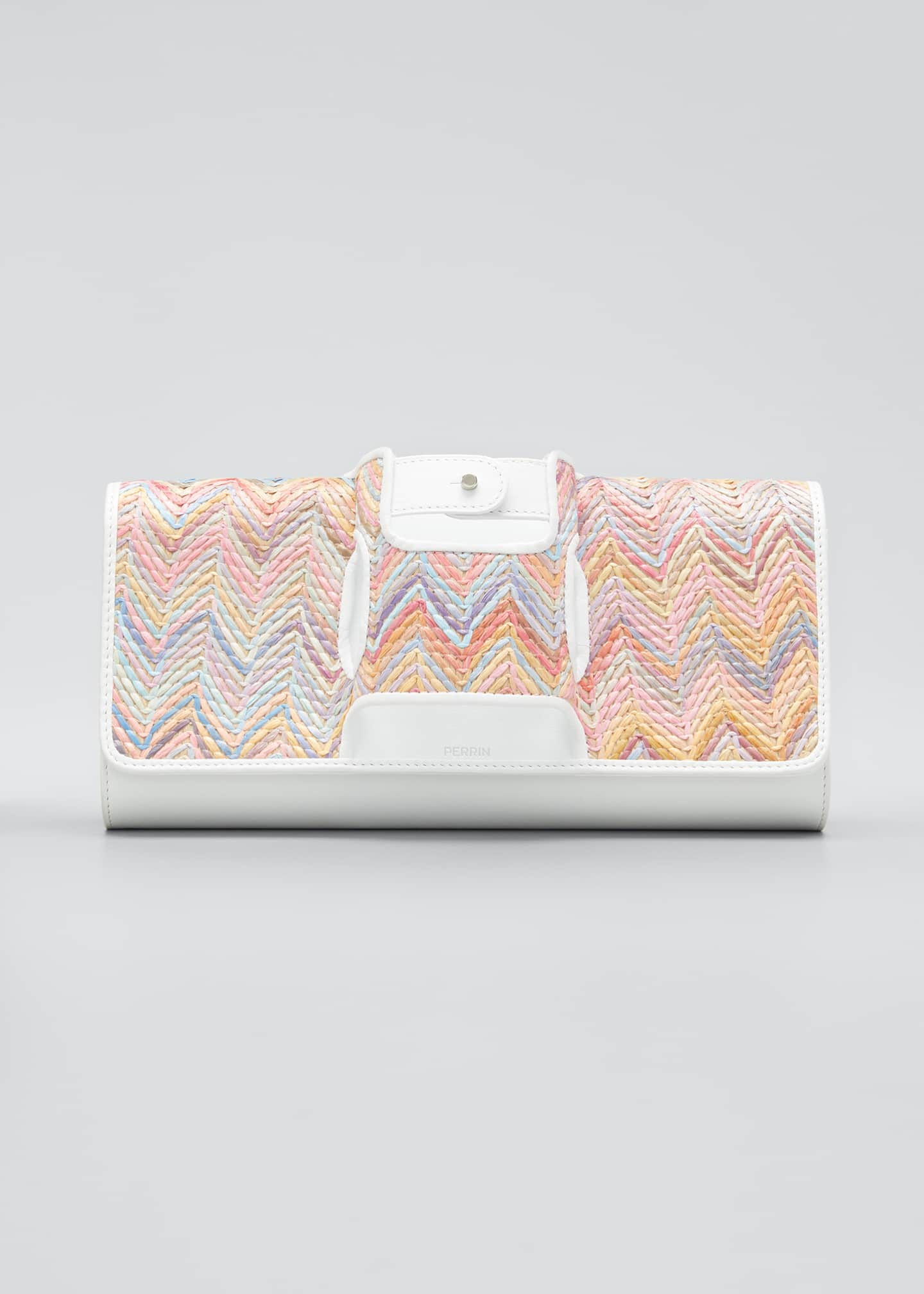 Image 1 of 5: La Newyorkaise Raffia Clutch Bag