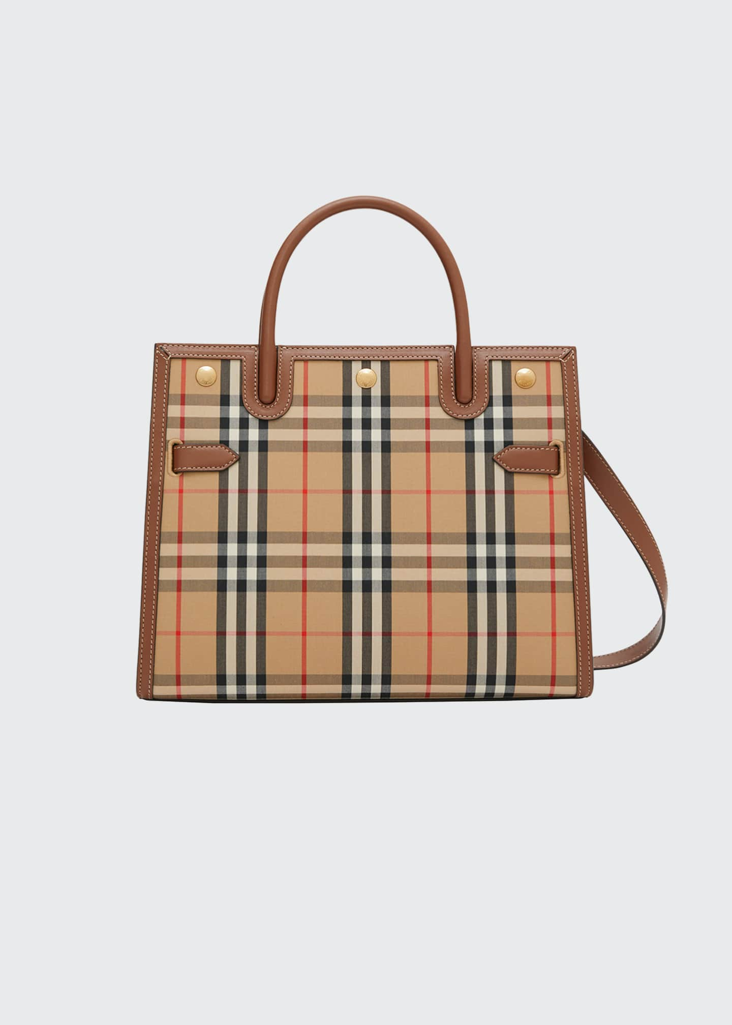 Image 1 of 4: Small Vintage Check Title Bag