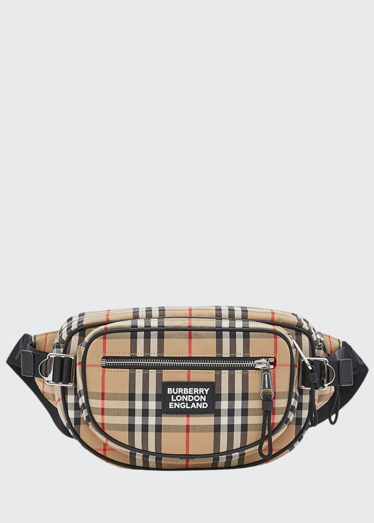 Burberry Men's Cannon Vintage Check Crossbody Belt Bag