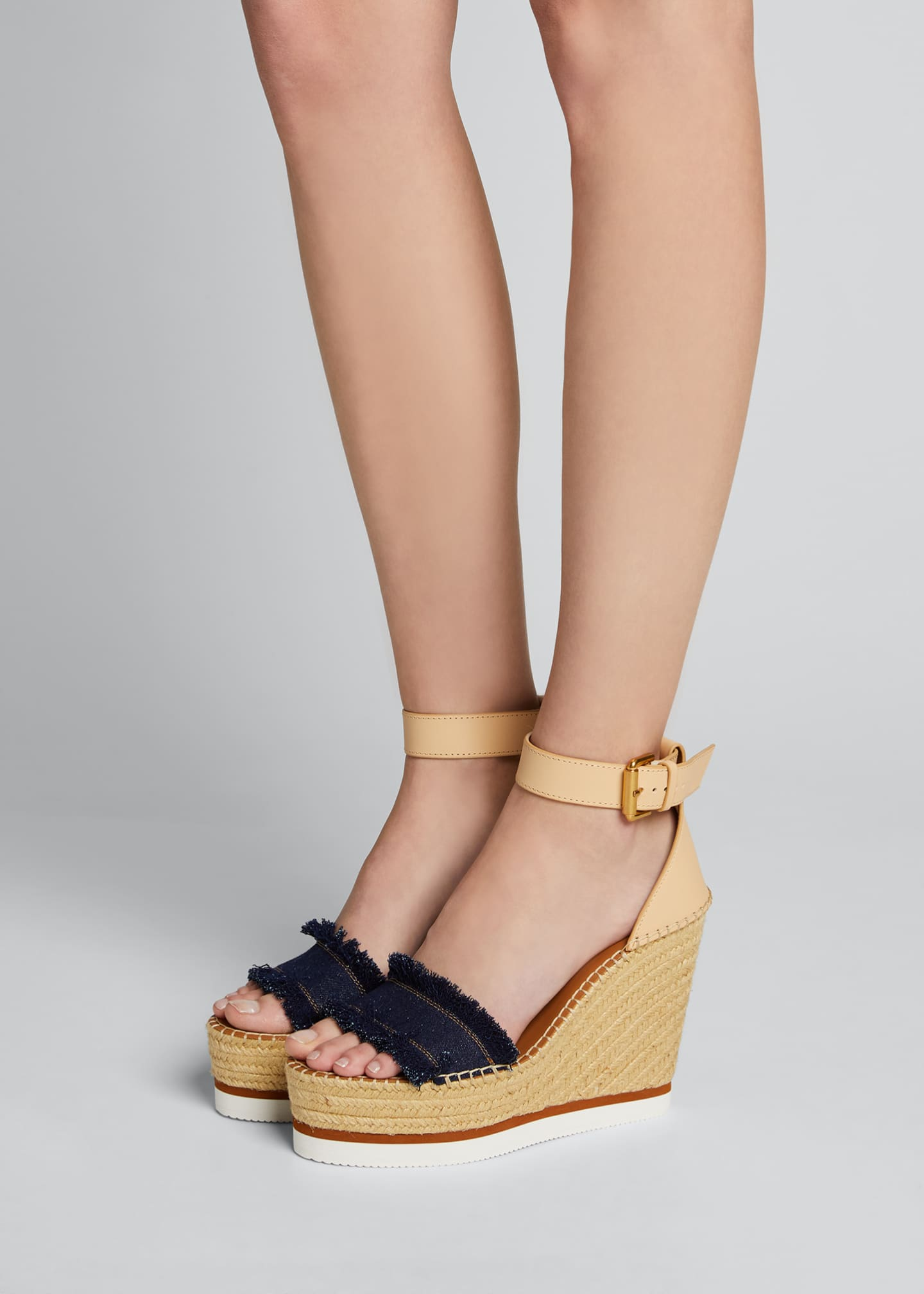 Image 2 of 5: Glyn Denim Espadrille Sandals