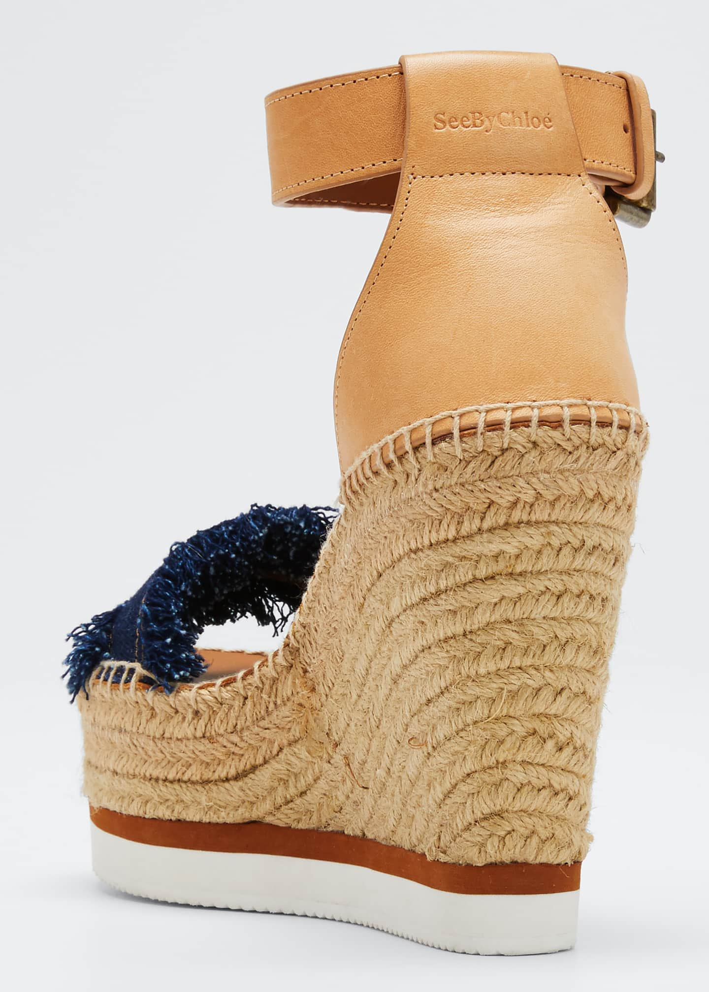 Image 4 of 5: Glyn Denim Espadrille Sandals