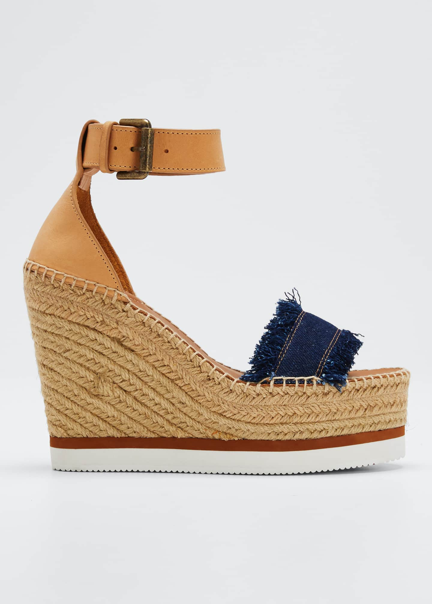 Image 1 of 5: Glyn Denim Espadrille Sandals