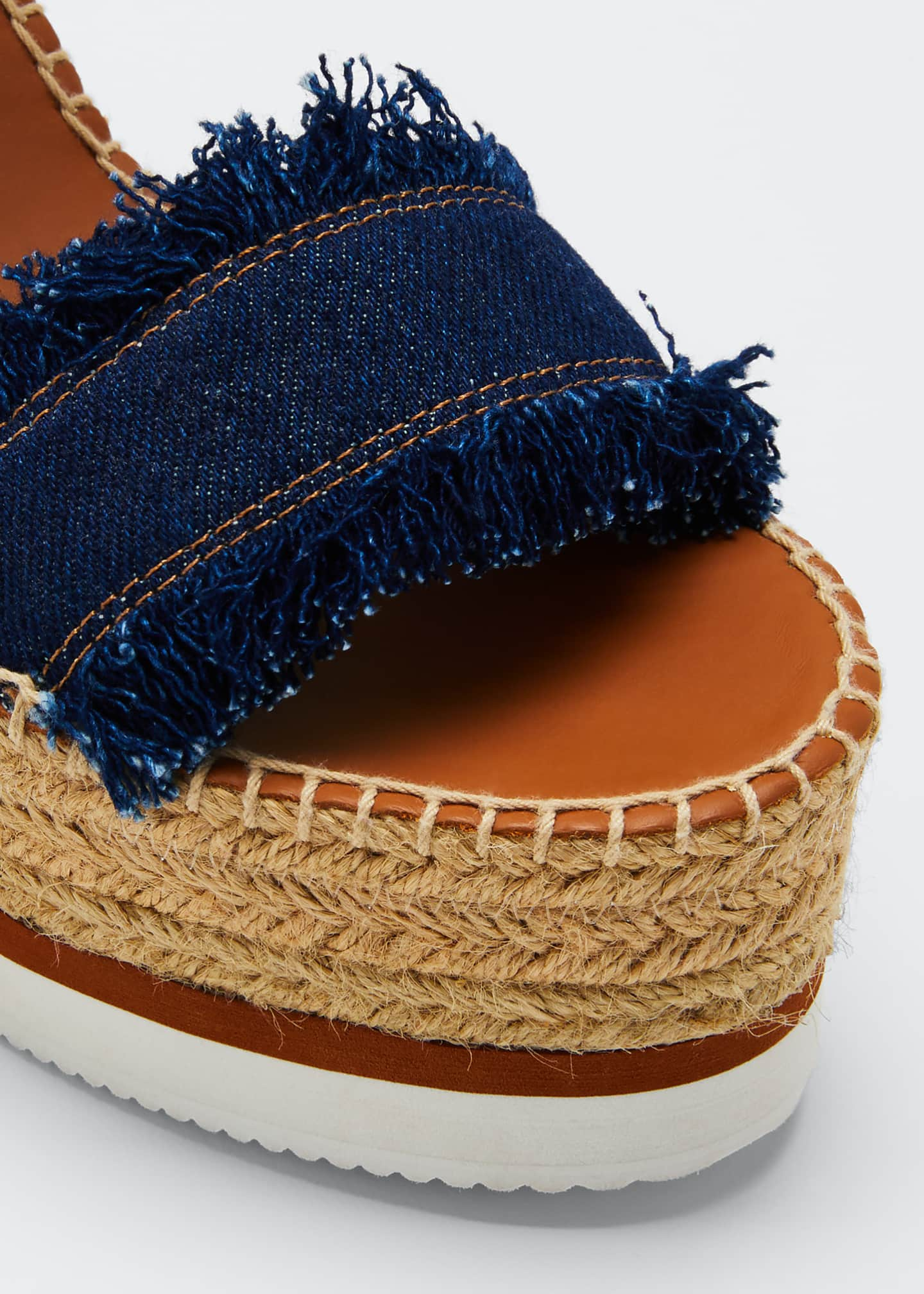 Image 5 of 5: Glyn Denim Espadrille Sandals