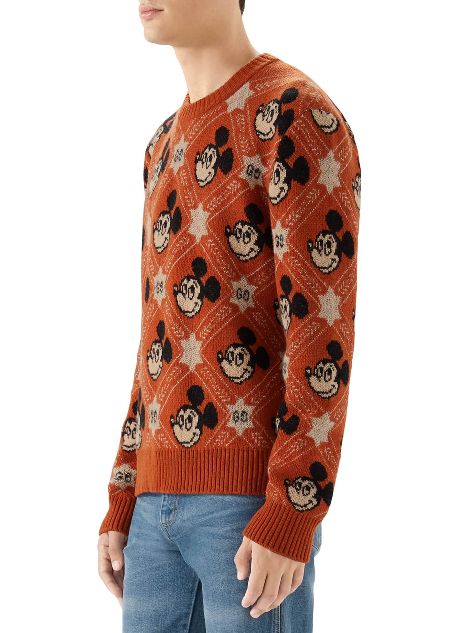 Image 2 of 4: Men's x Disney Mickey Mouse Jacquard Sweater